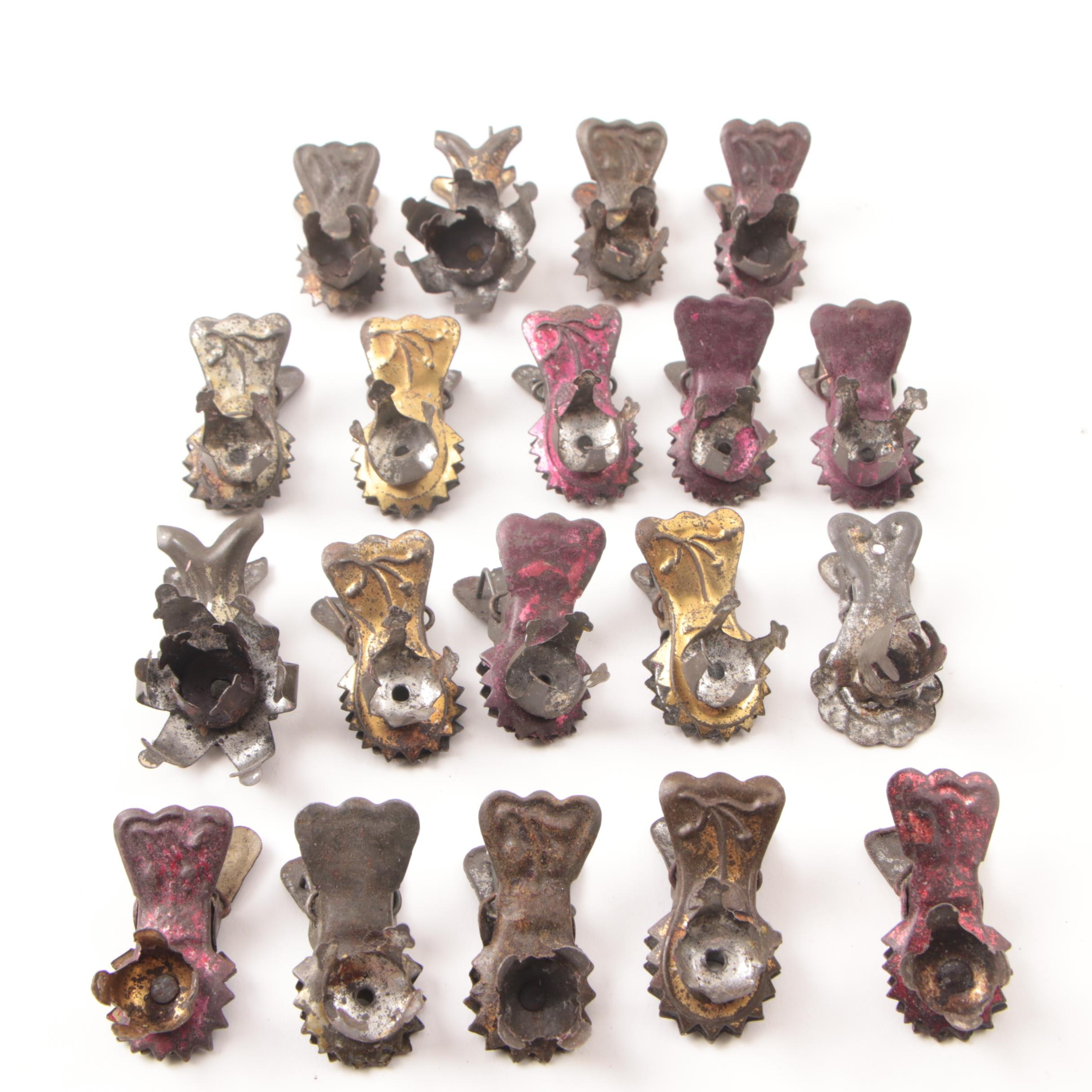 Antique Christmas Tree Candle Clips