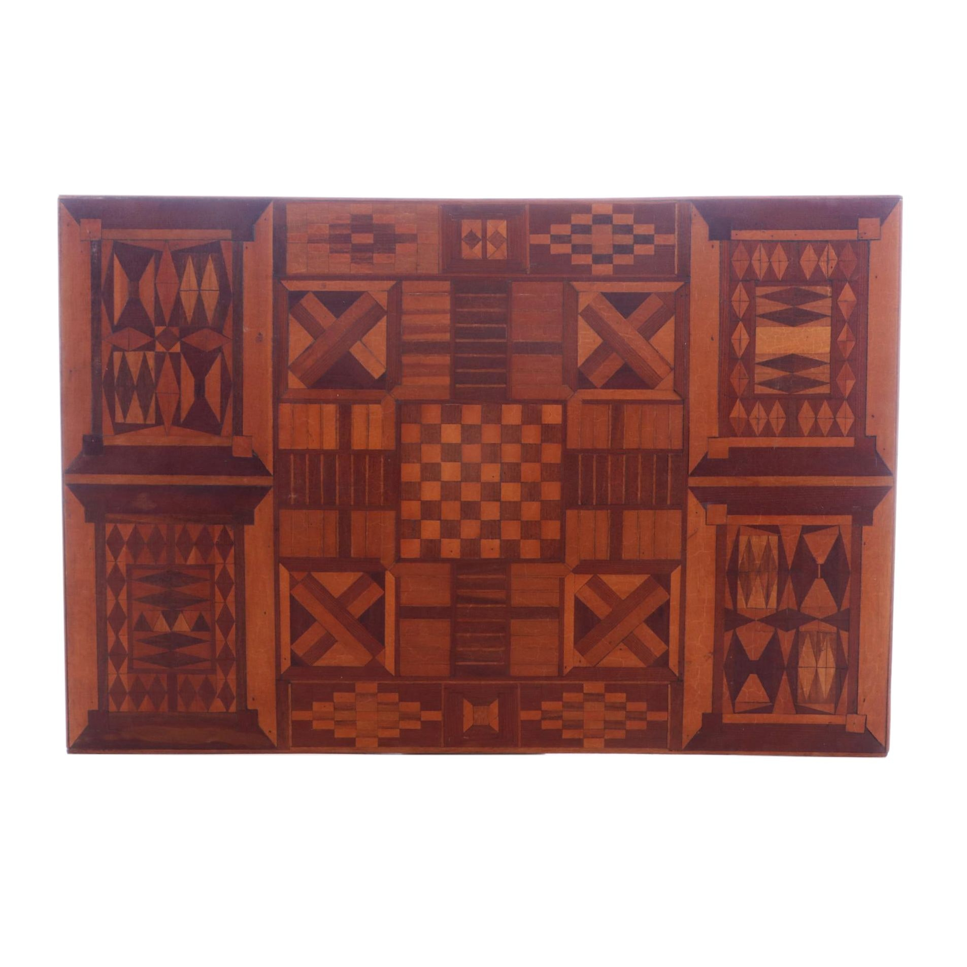 Marquetry Wood Panel