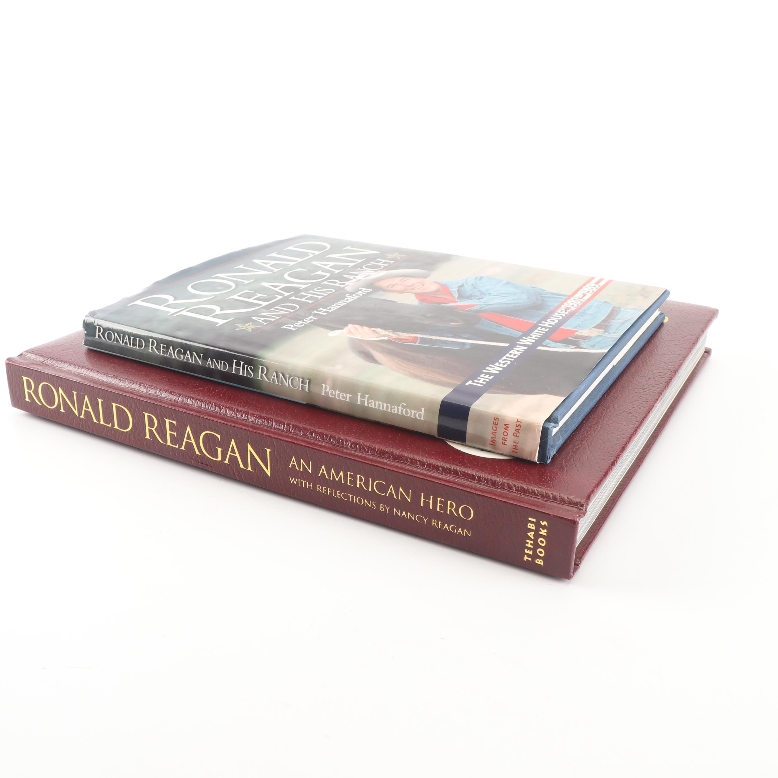 "Reagan Books with ""Ronald Reagan: An American Hero"" Signed by Nancy Reagan"