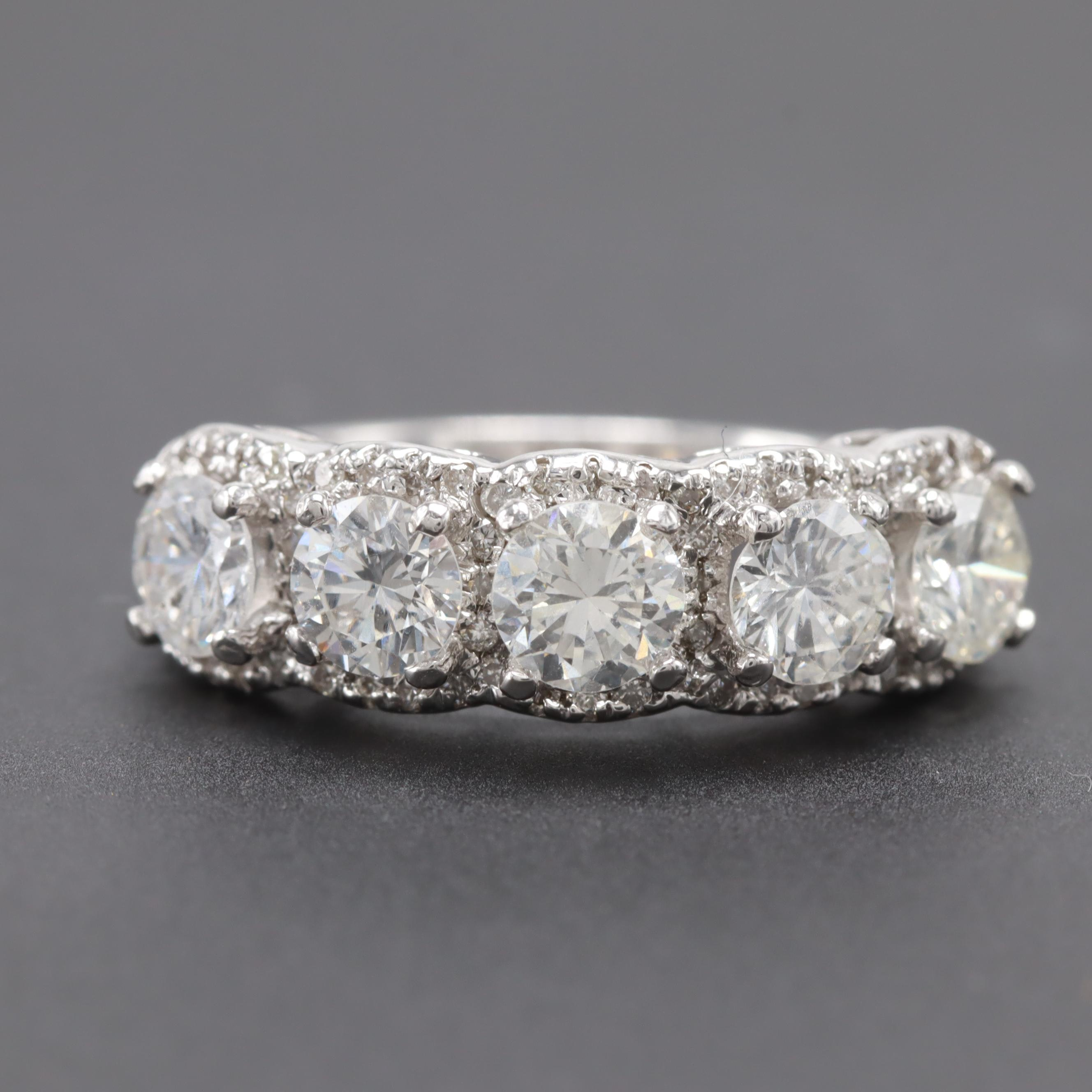 14K White Gold 2.25 CTW Diamond Ring