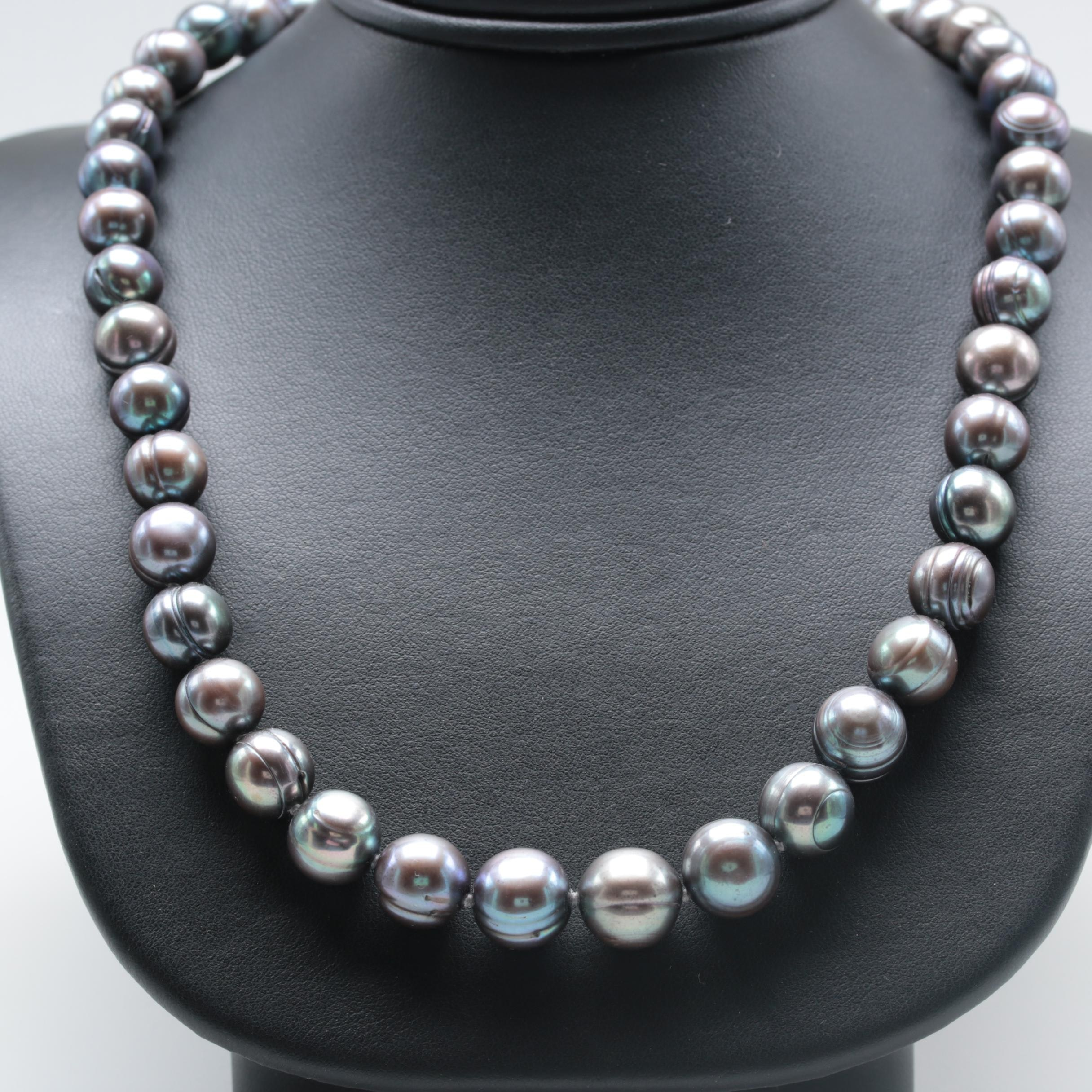 Sterling Silver Hand-Knotted Cultured Pearl Necklace