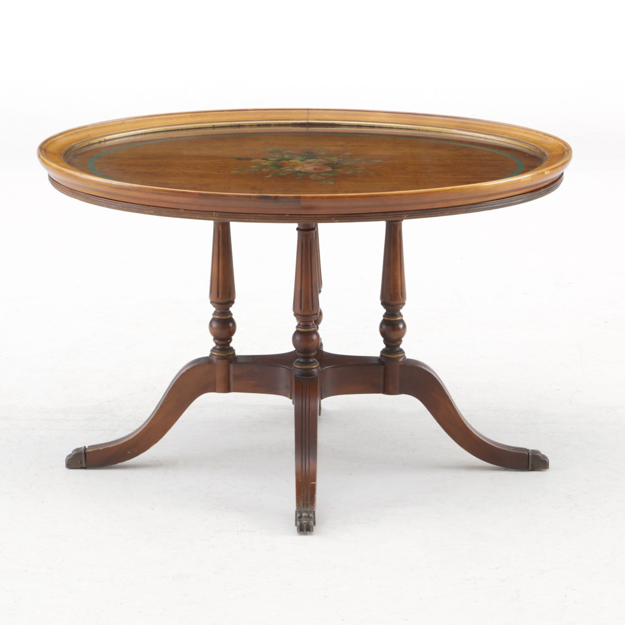 Regency Style Hand Painted Cherry Tray Table, Mid-19th Century