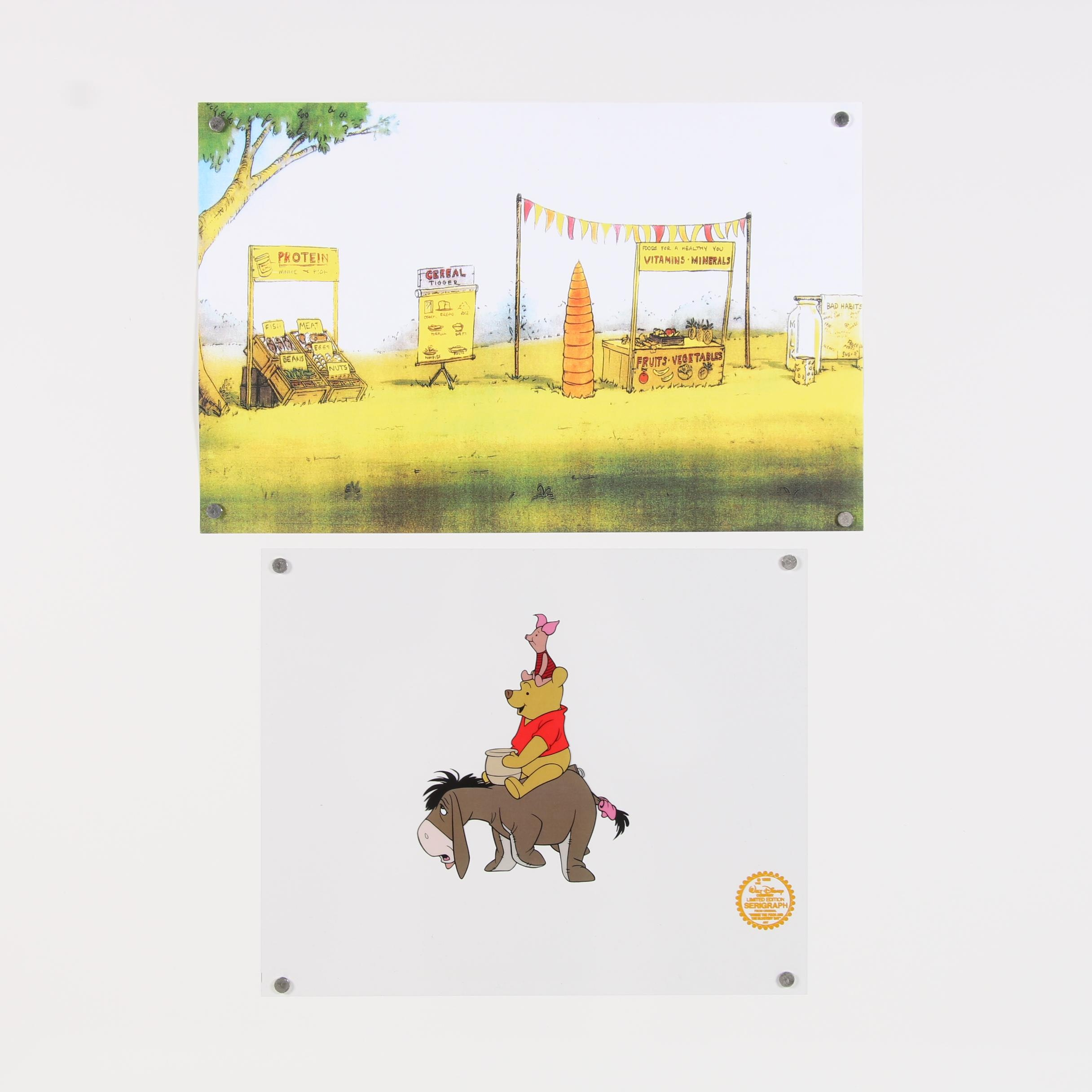 1968 Winnie the Pooh Offset Lithographs