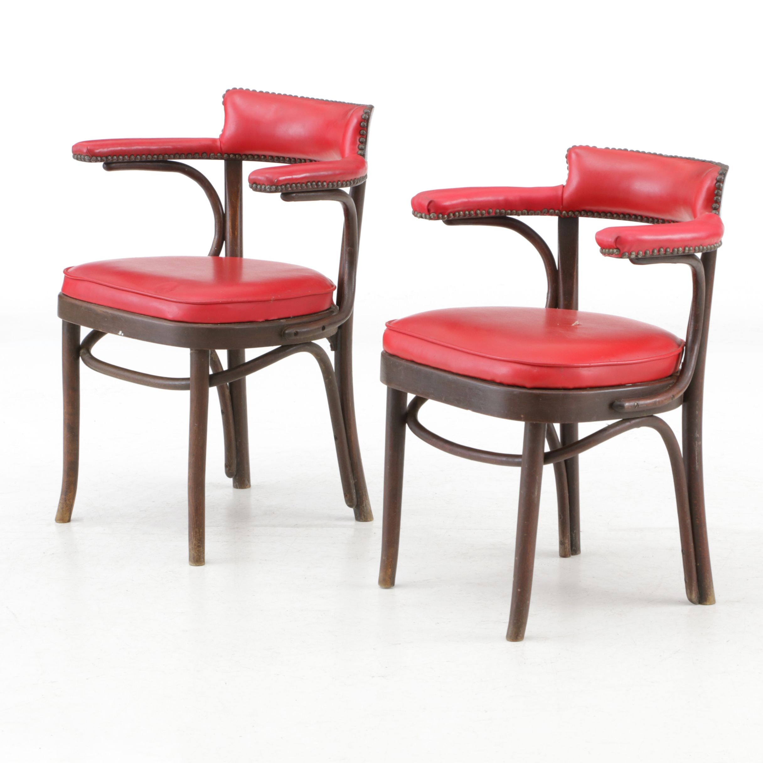 Kenwood Golf and Country Club Bentwood Armchairs by Thonet, Mid-20th Century