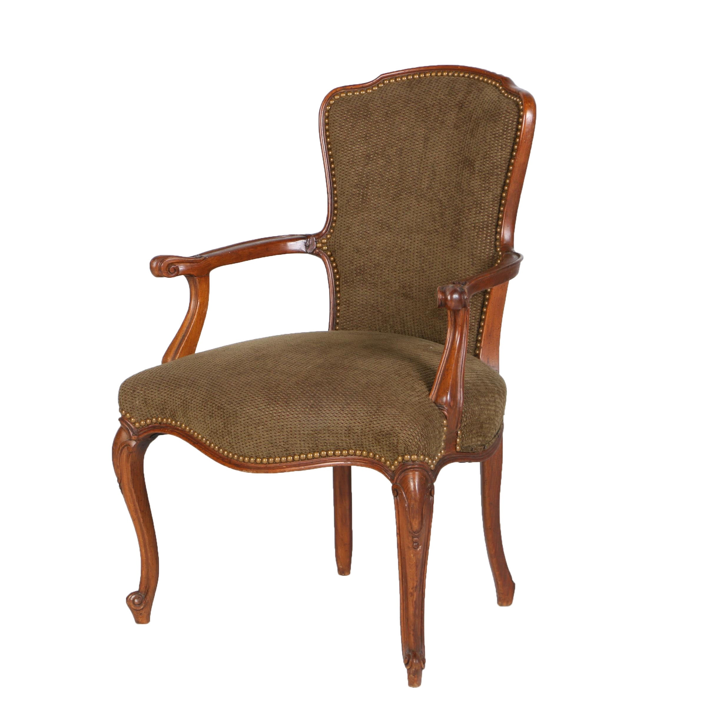 Louis XV Style Beechwood Fauteuil, 20th Century