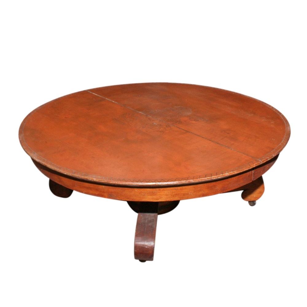 Maple Folk Art Coffee Table, Mid-20th Century