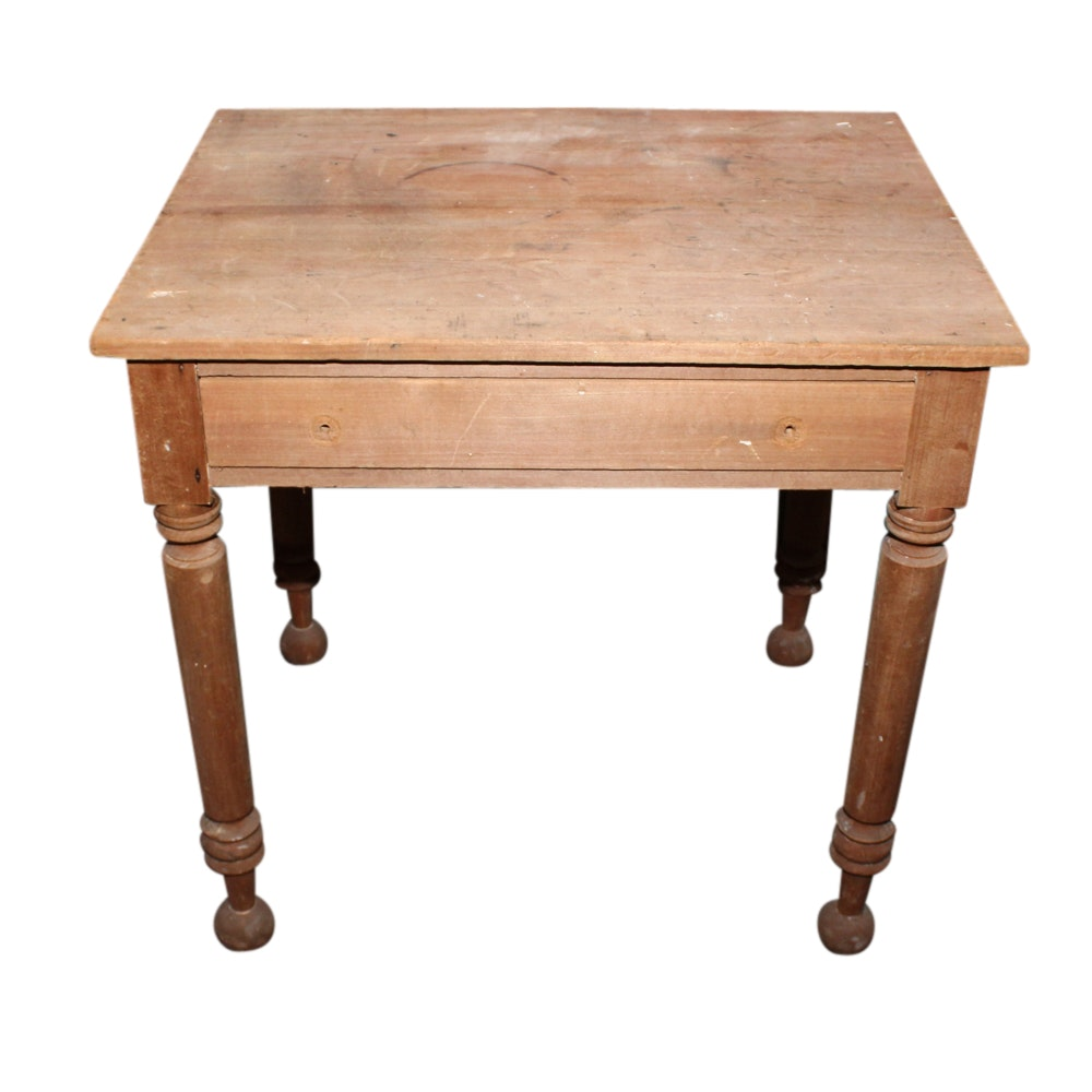 Stripped Walnut Table, Early 20th Century
