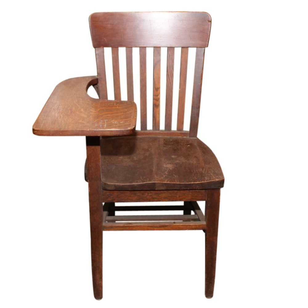 Oak School Chair, Early 20th Century