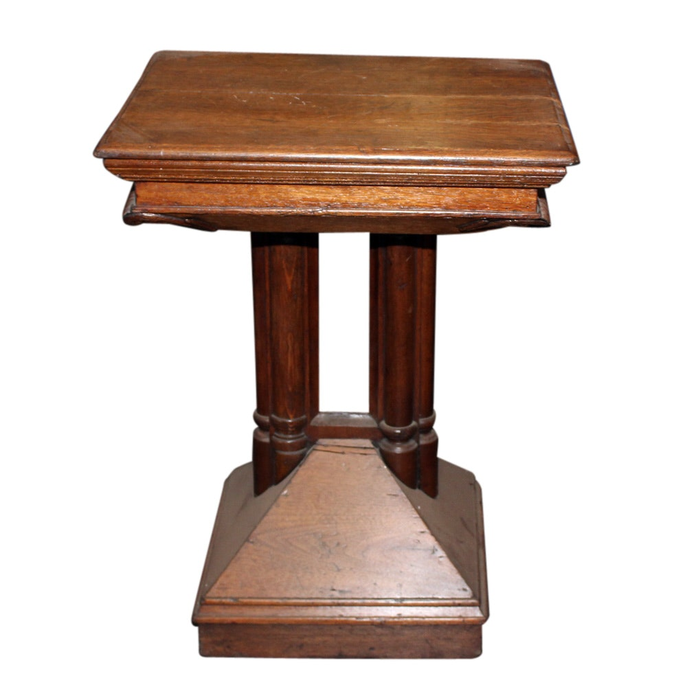 Victorian Oak Side Table, Early 20th Century