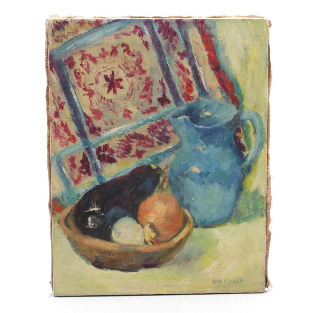Leah Frandzel Still Oil Painting Kitchen Still Life