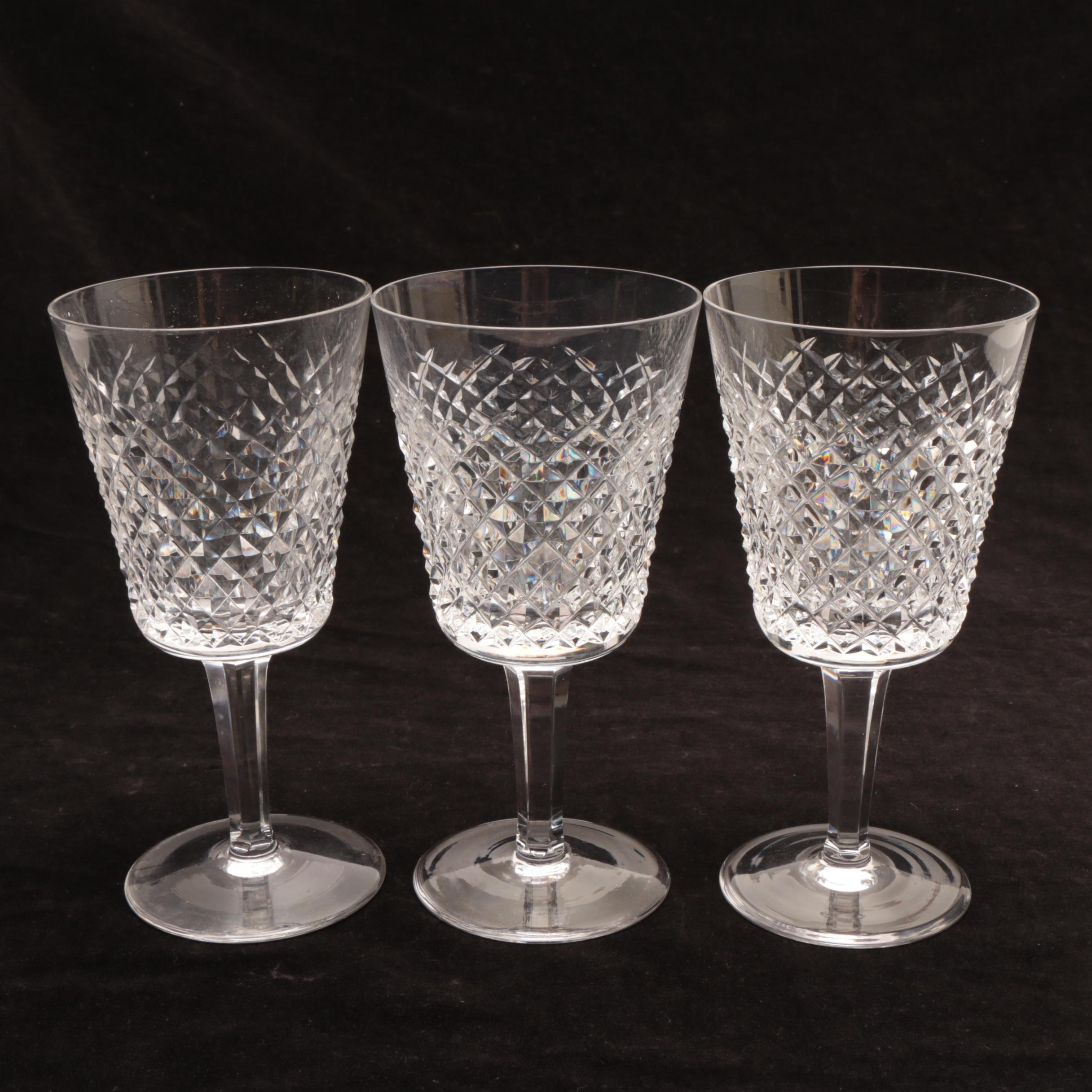 "Waterford Crystal ""Alana"" Goblets"