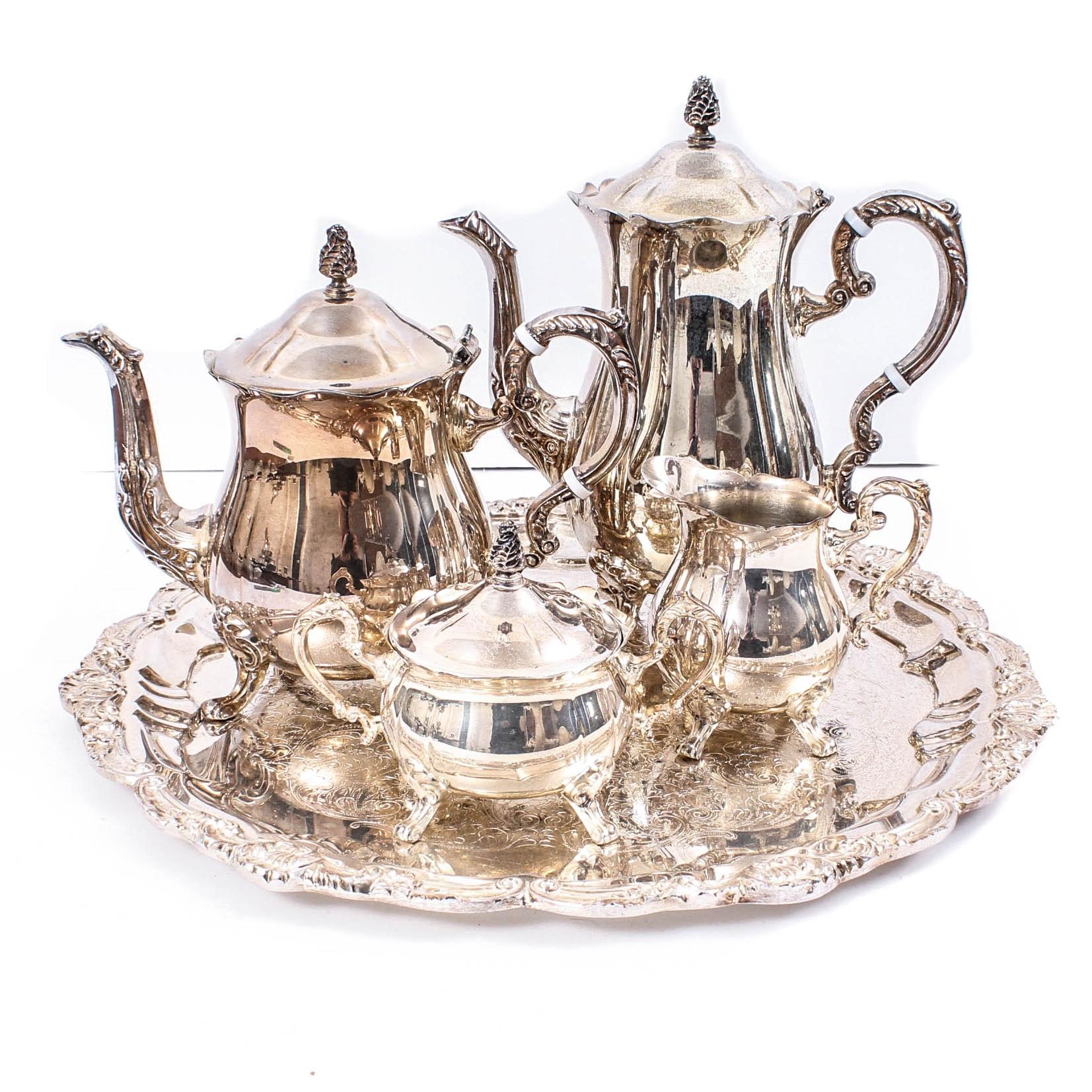 Leonard Silver Plate Coffee and Tea Service