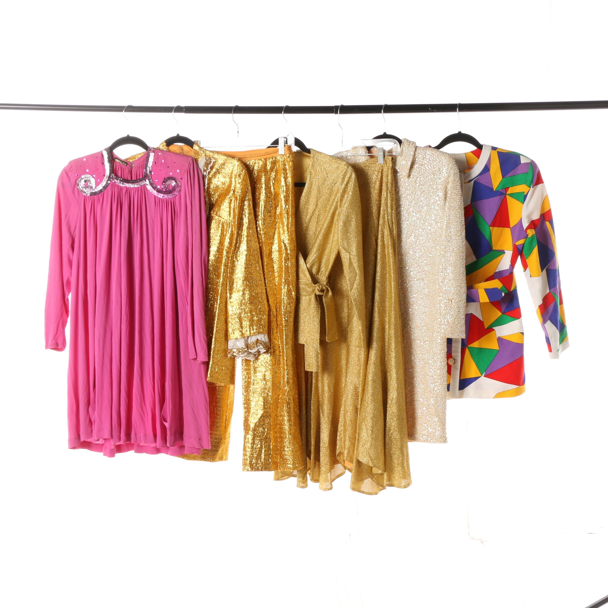 Circa 1980s Sequined Dresses and Separates
