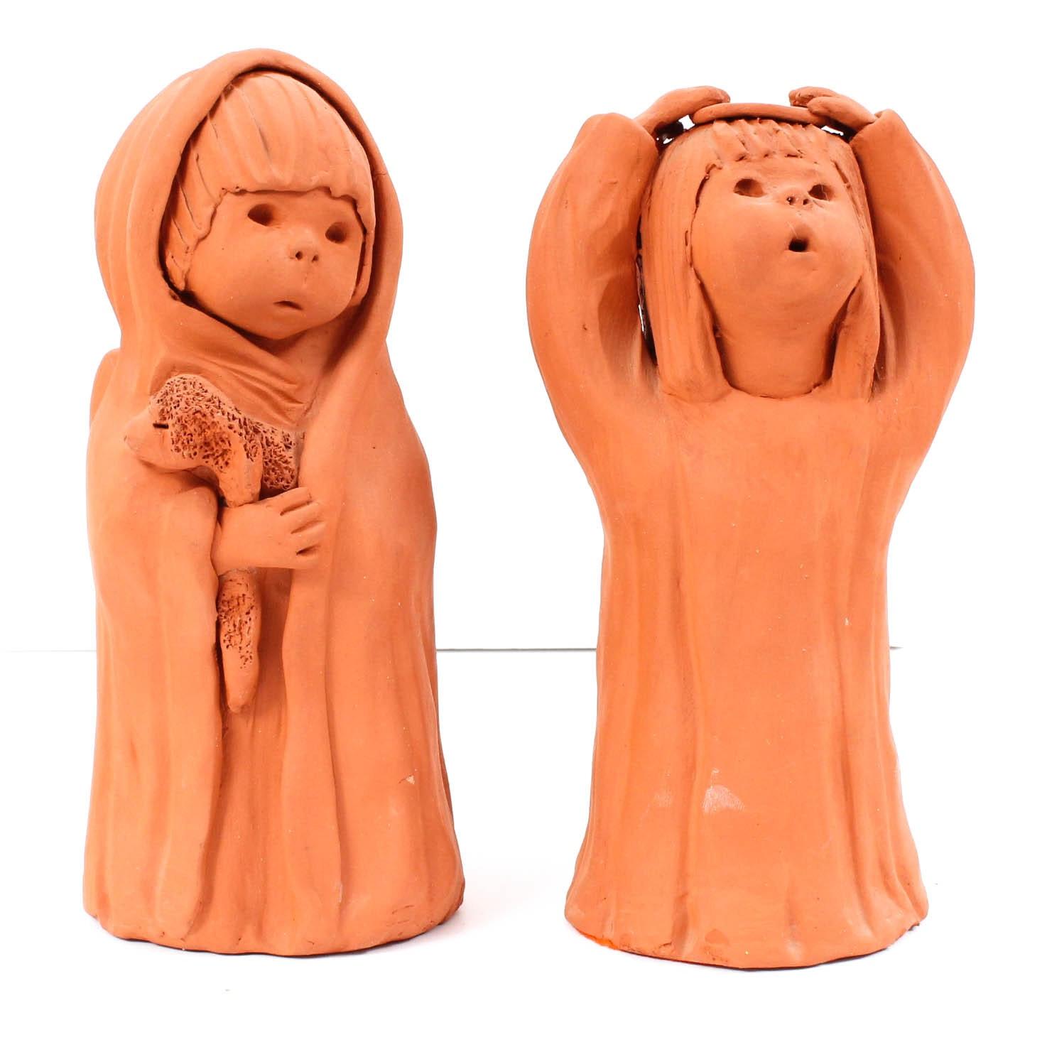 Ann Entis Terracotta Sculptures