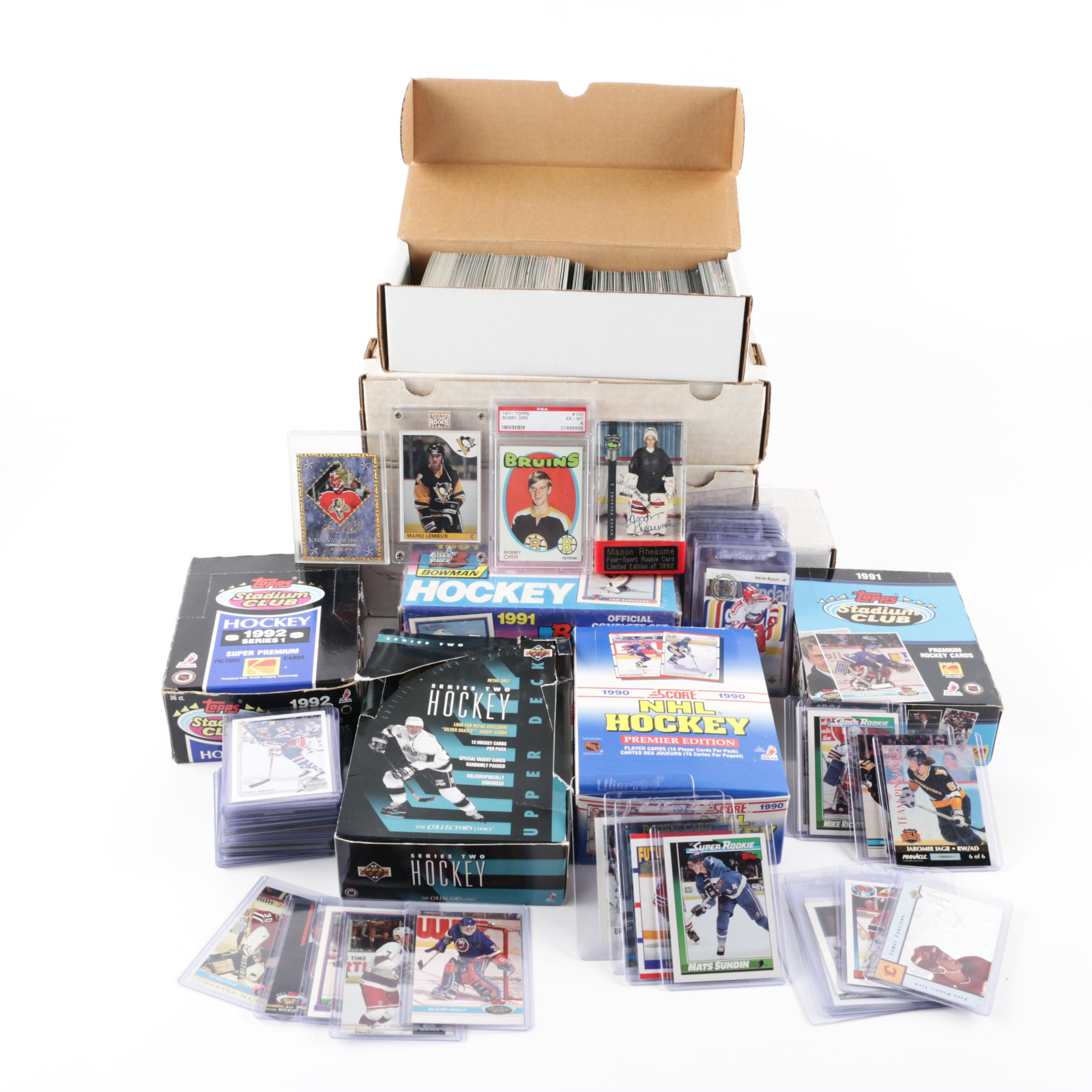 1985 Topps Mario Lemieux Rookie Card, 1971 Bobby Orr, Signed Rhéaume and More