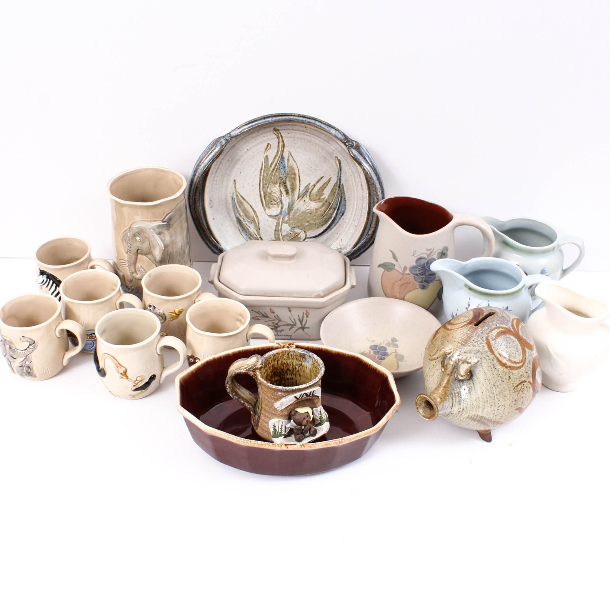 """Pottery Tableware Including Buchan """"Thistleware"""", Hull, McCoy, Franciscan"""