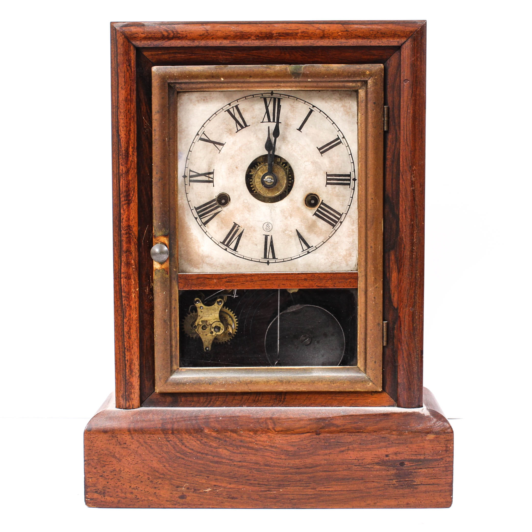 Seth Thomas Mantel Clock in Mahogany Case