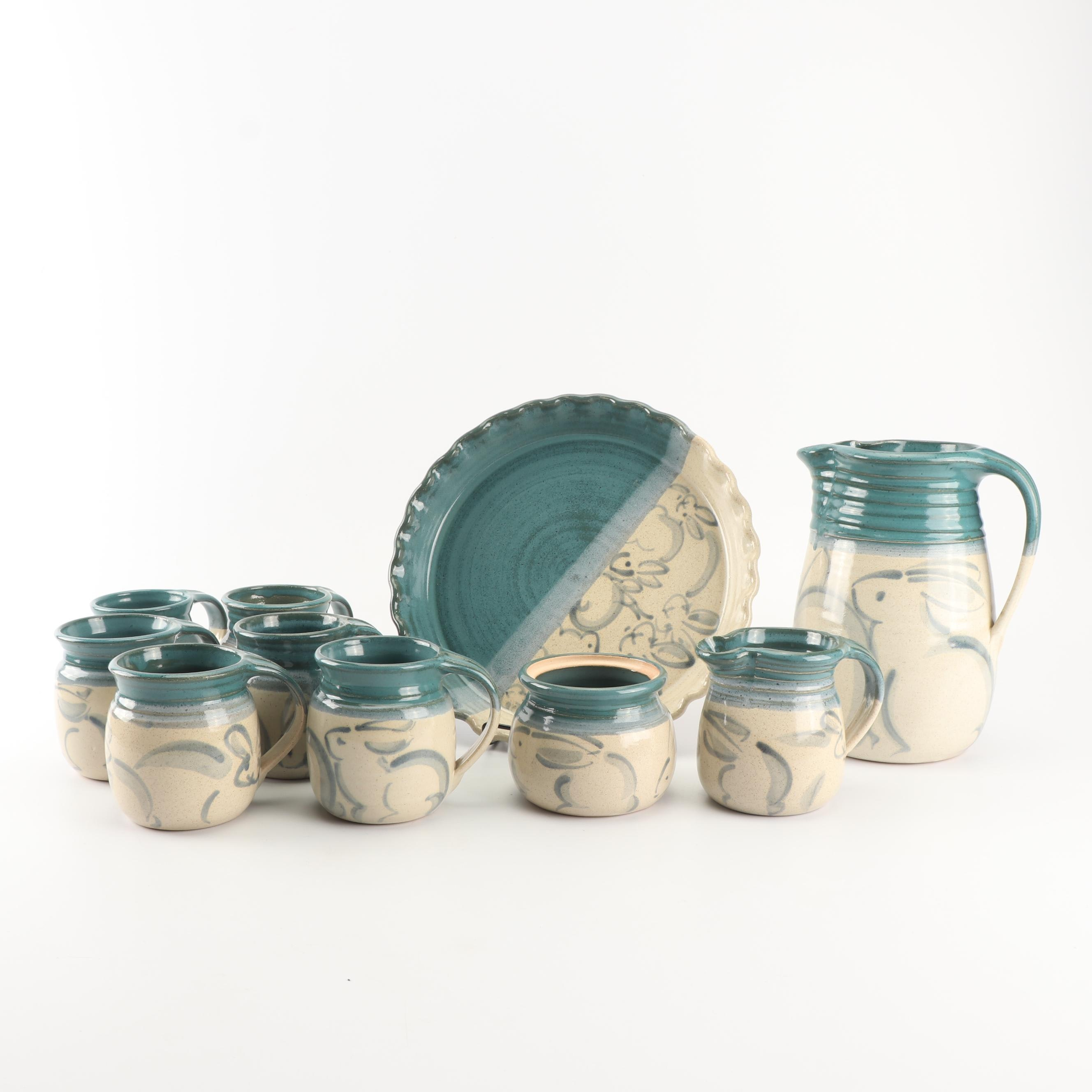Ann Gleason Wheel Thrown Stoneware Serveware