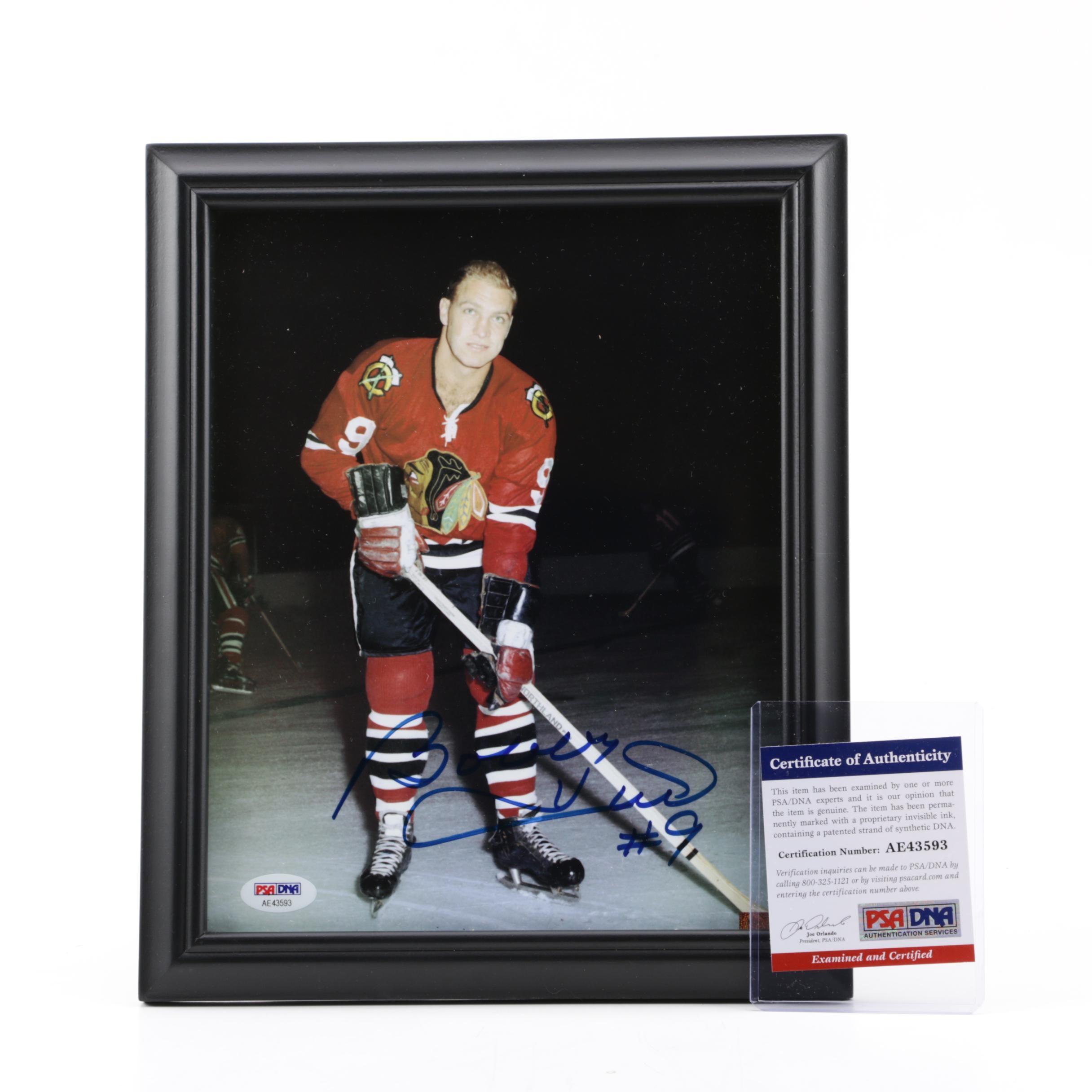 Bobby Hull (HOF) Autographed Photograph, PSA/DNA COA