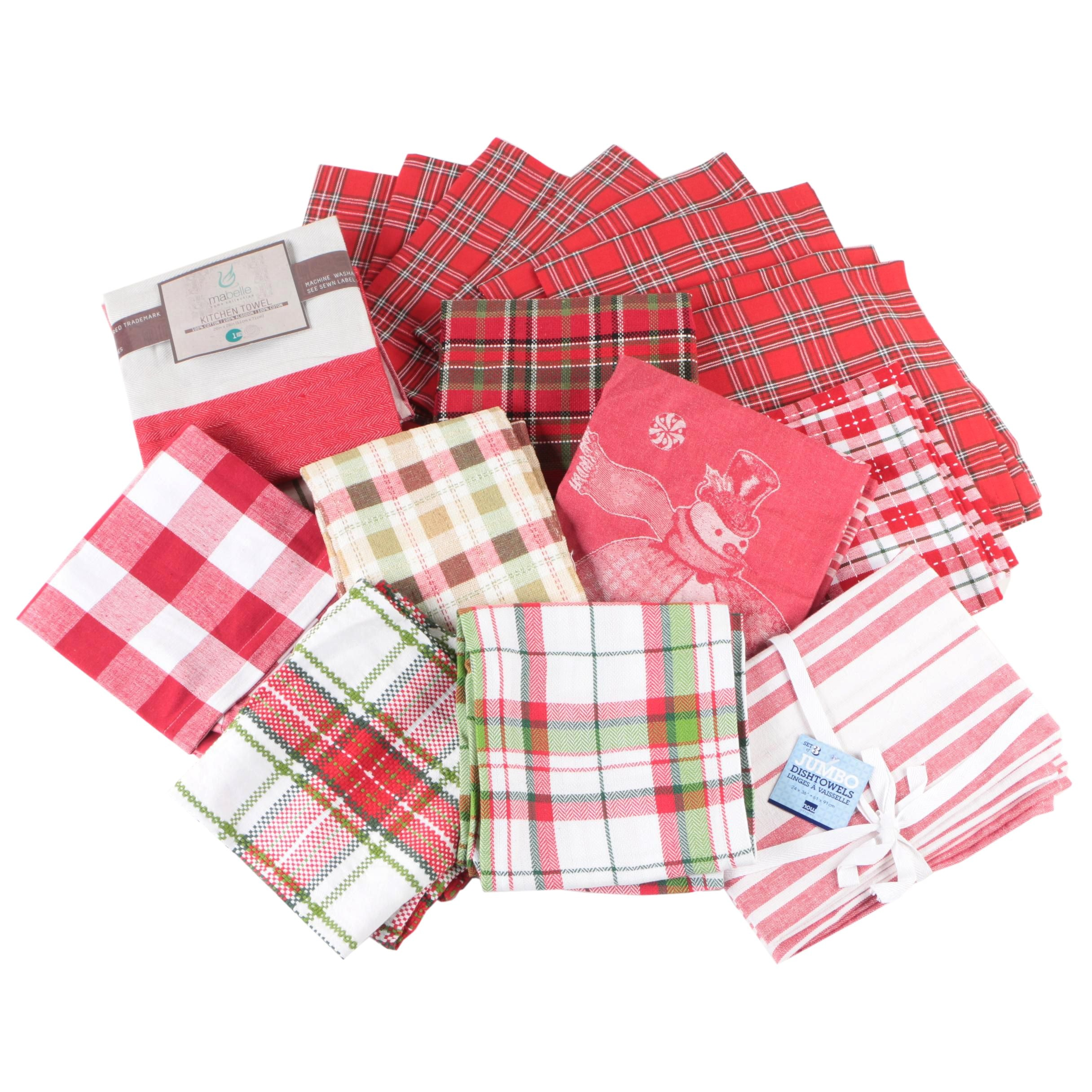 Christmas Themed Kitchen Towels and Napkins