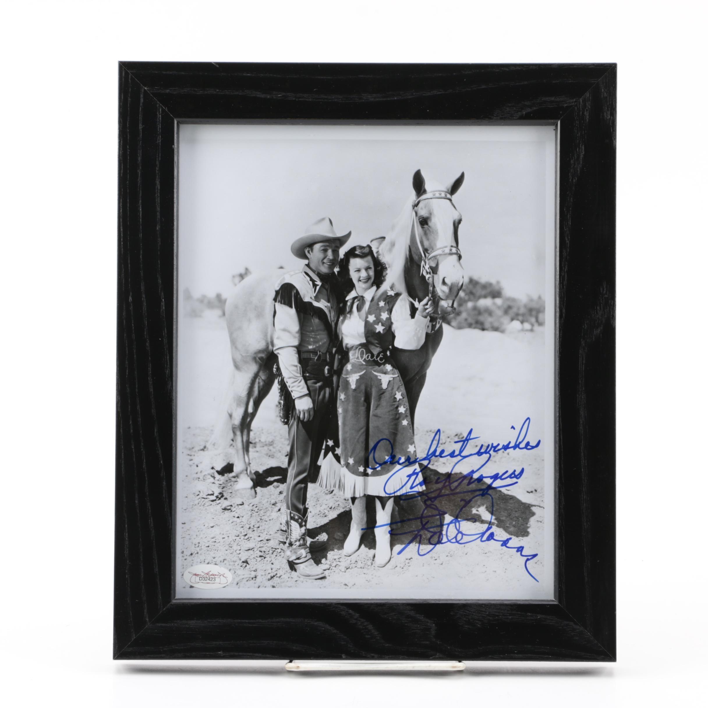 Roy Rogers and Dale Evans Autographed Photograph, JSA COA