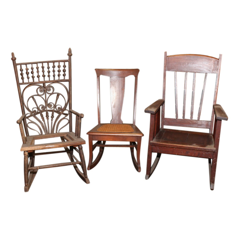 Three Rocking Chairs, Late 19th/Early 20th Century