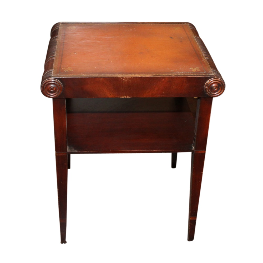 Regency Style Mahogany and Leather Table, Mid-20th Century