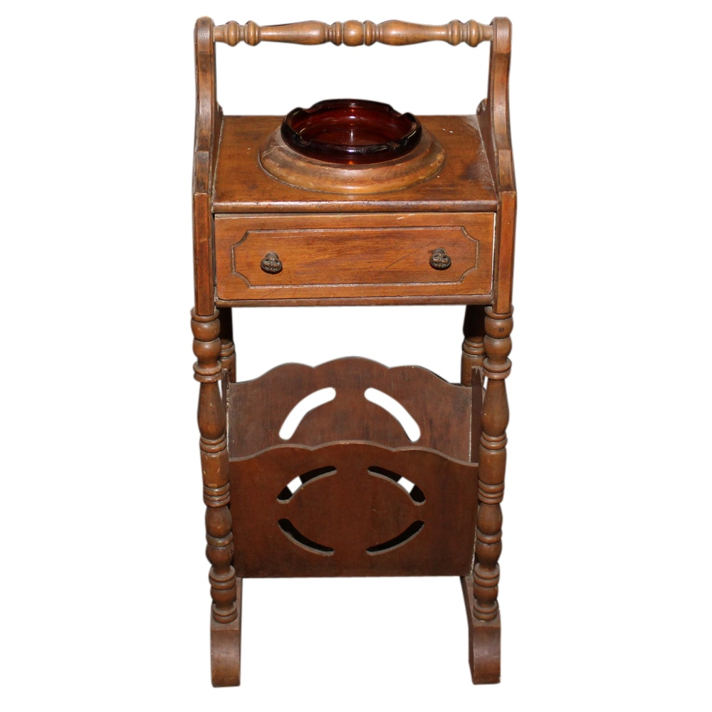 Wood Smoking Table, Mid-20th Century