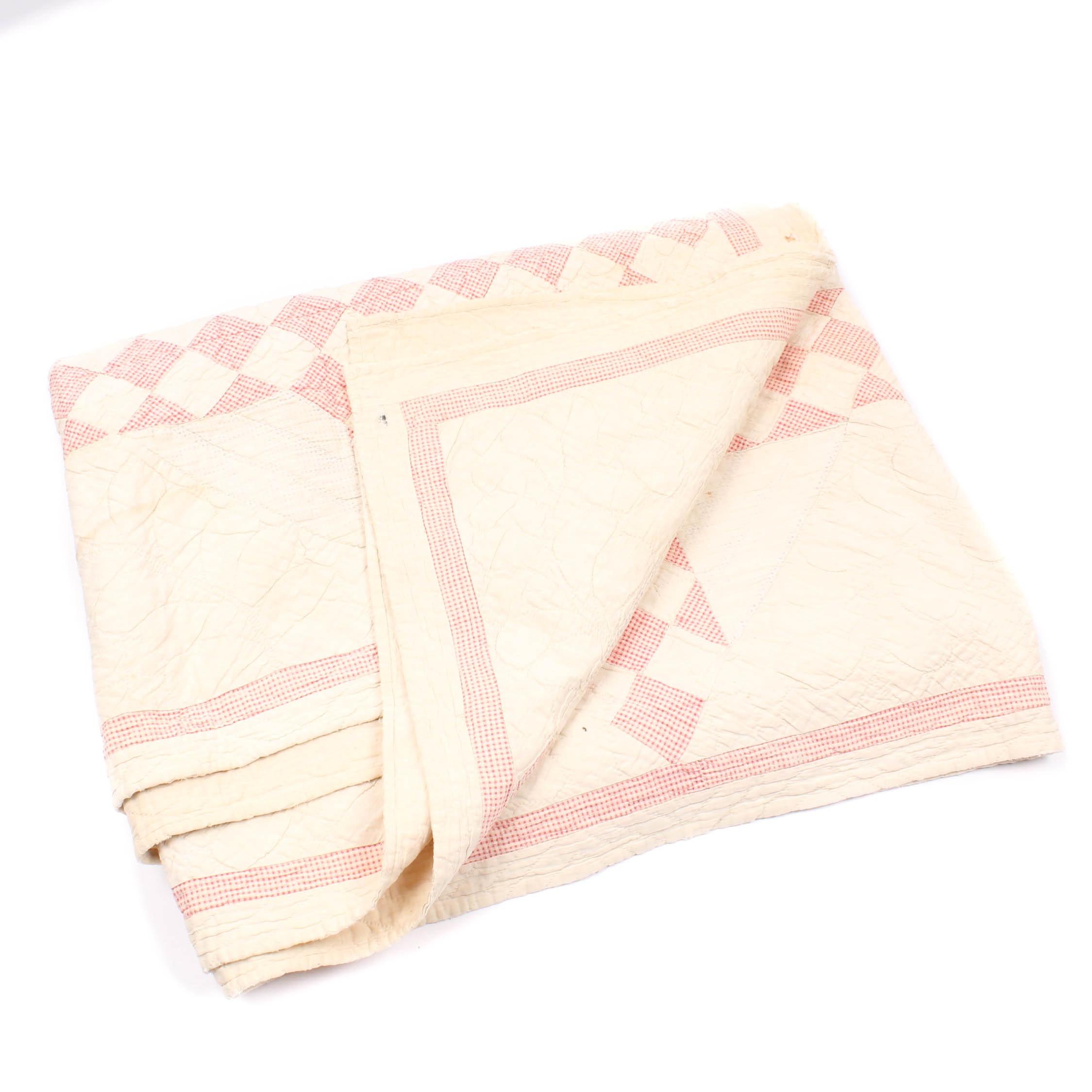 Vintage Hand Sewn Quilt