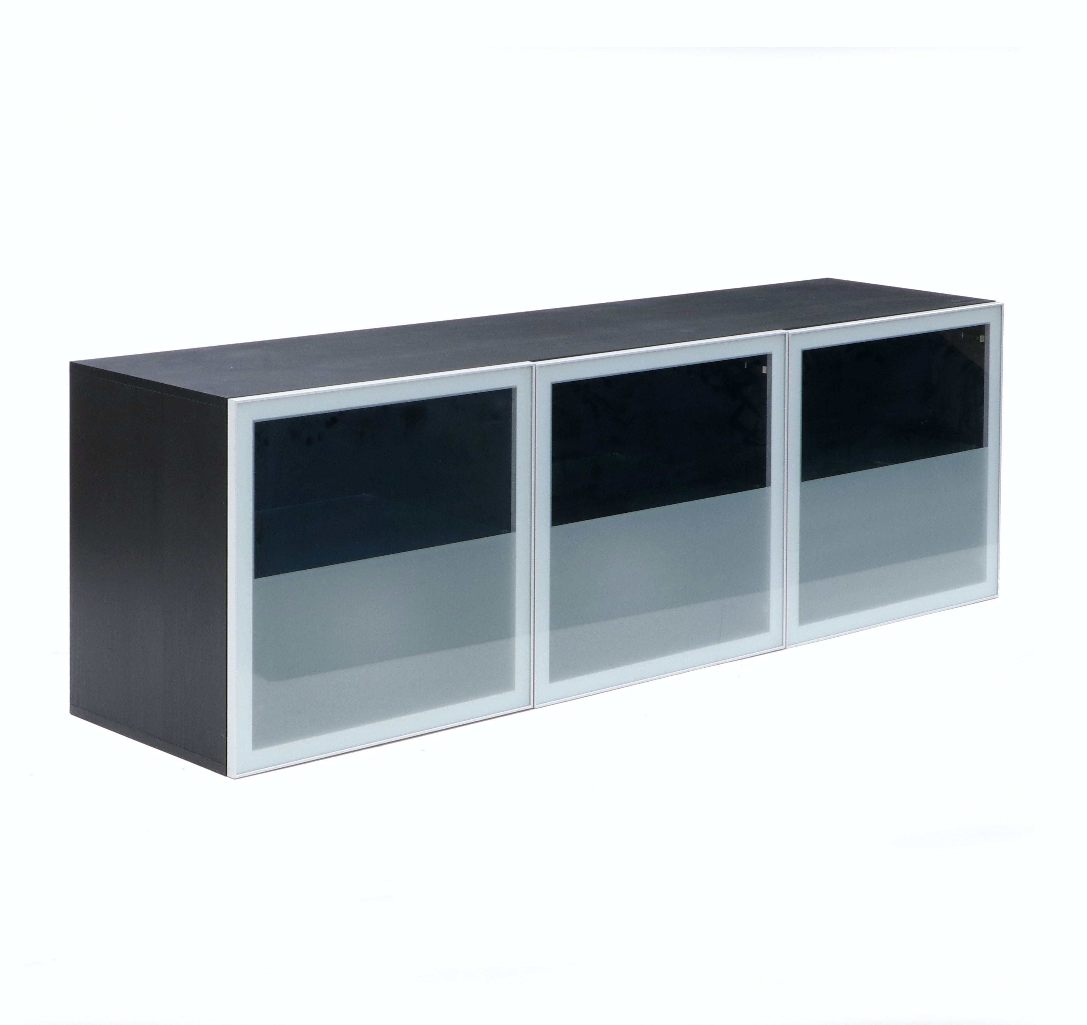 "Glass Front ""Alto"" Office Media Credenza by Design Within Reach"