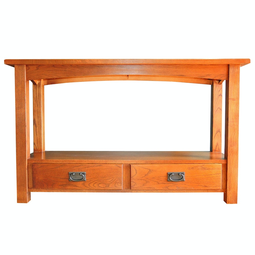 Mission Style Console Table By Peter Revington Furniture