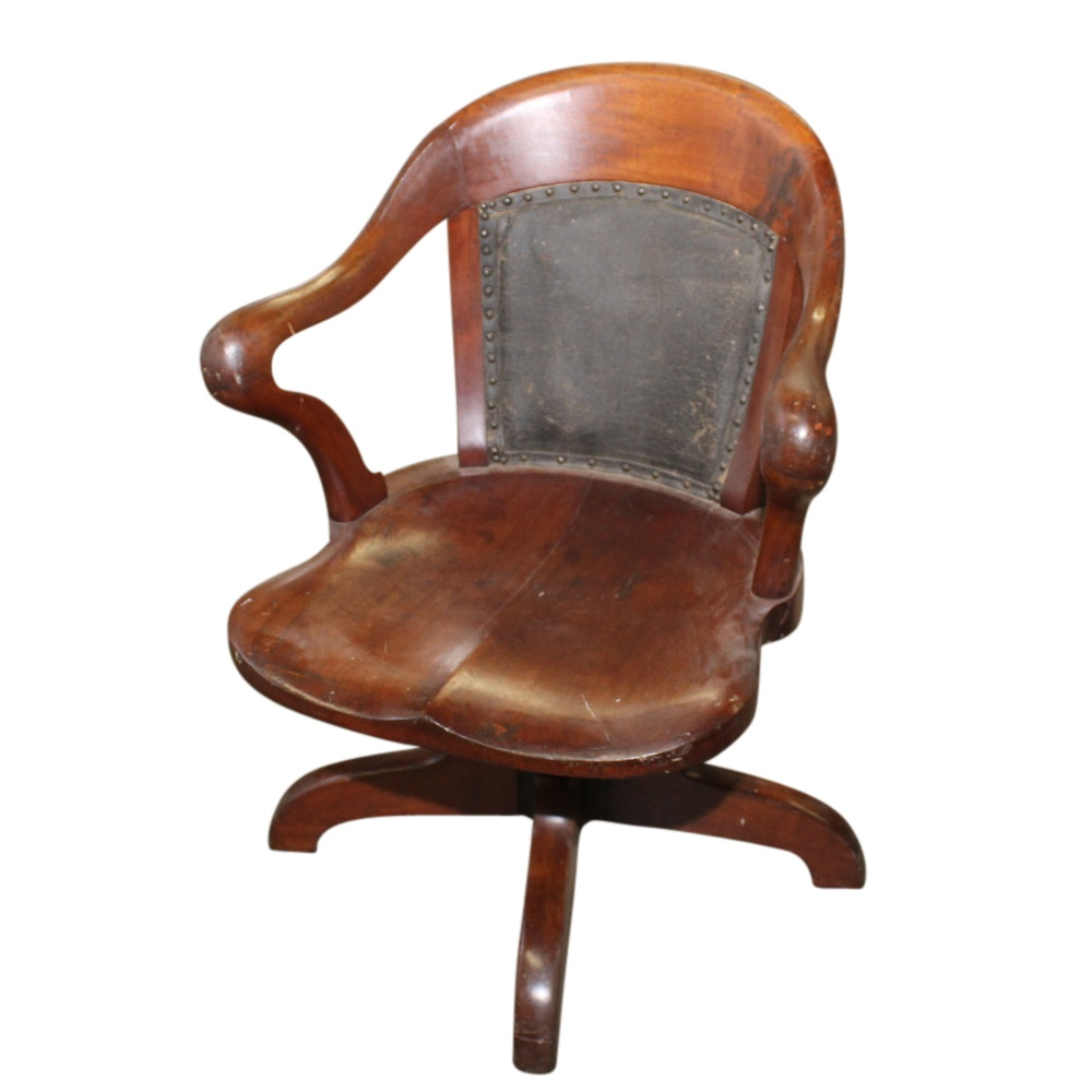 Maple Swivel Desk Chair, Late 19th Century