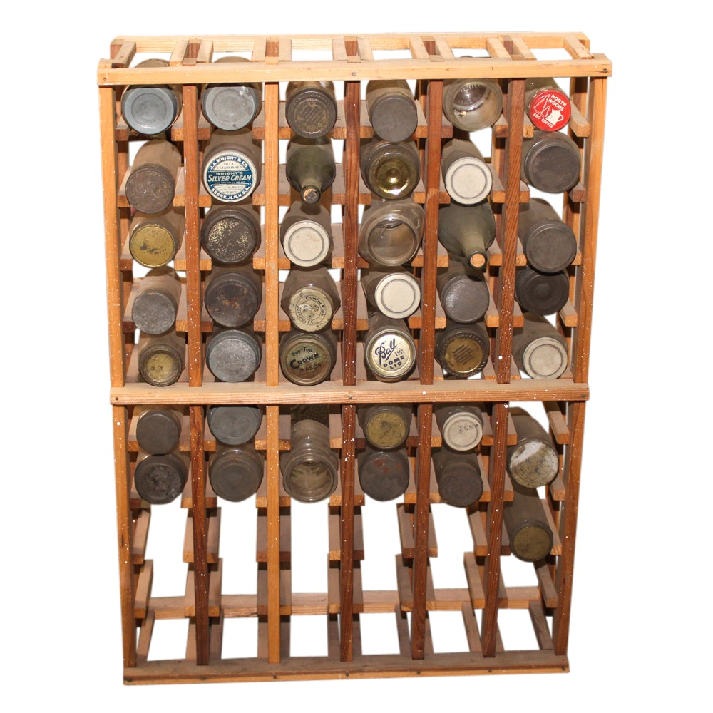 Hand Crafted Wooden Jar and Bottle Organizer