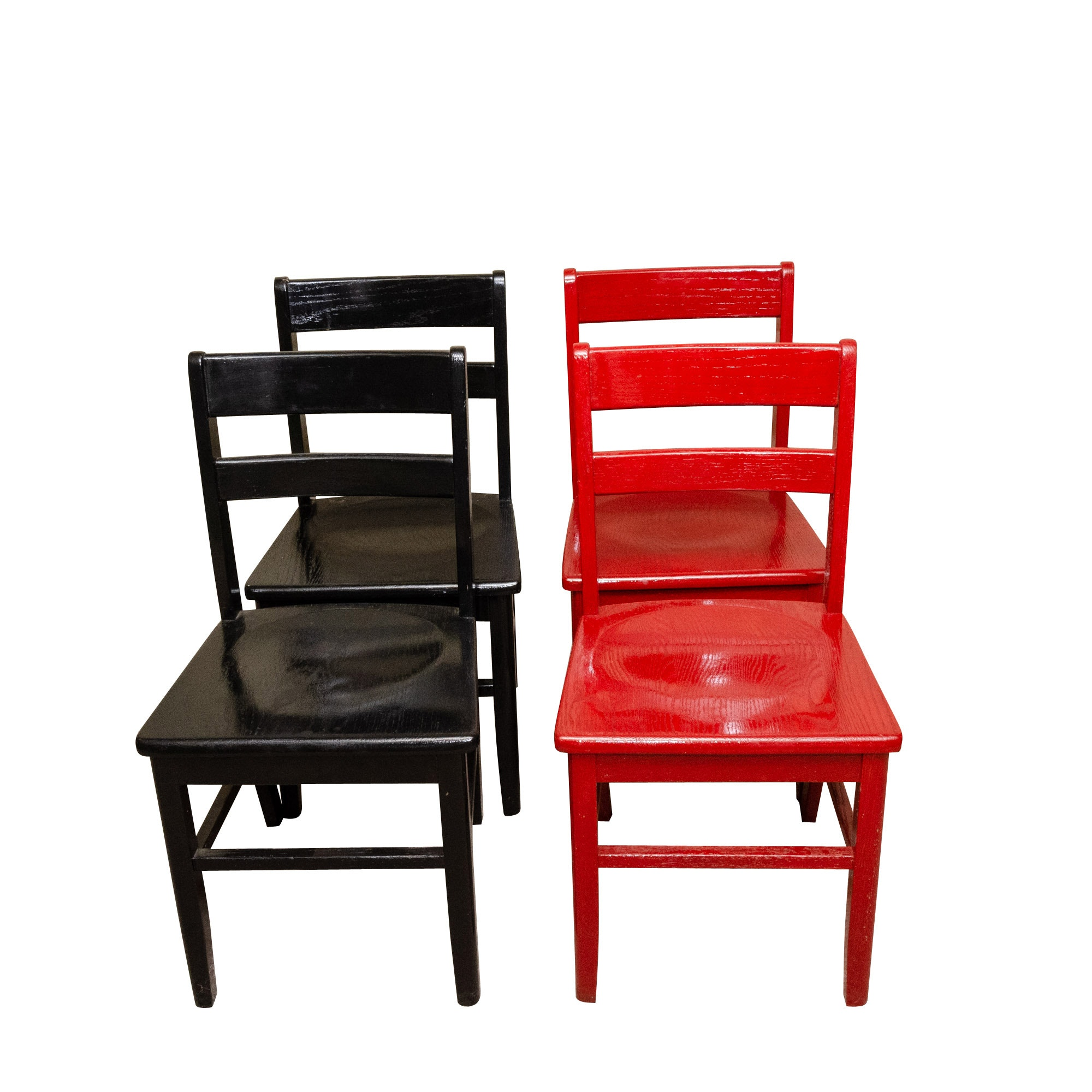 Contemporary Painted Oak Side Chairs