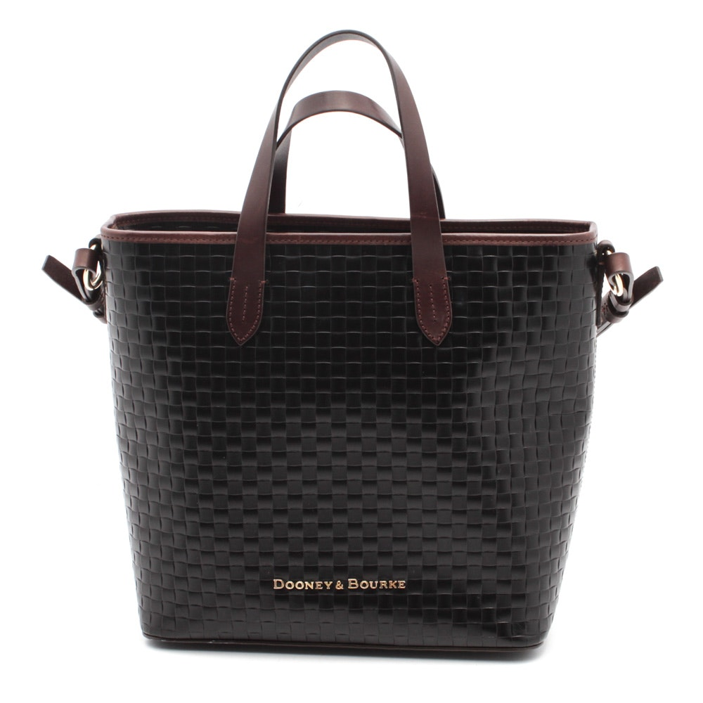 Dooney & Bourke Embossed Basketweave Leather Tote