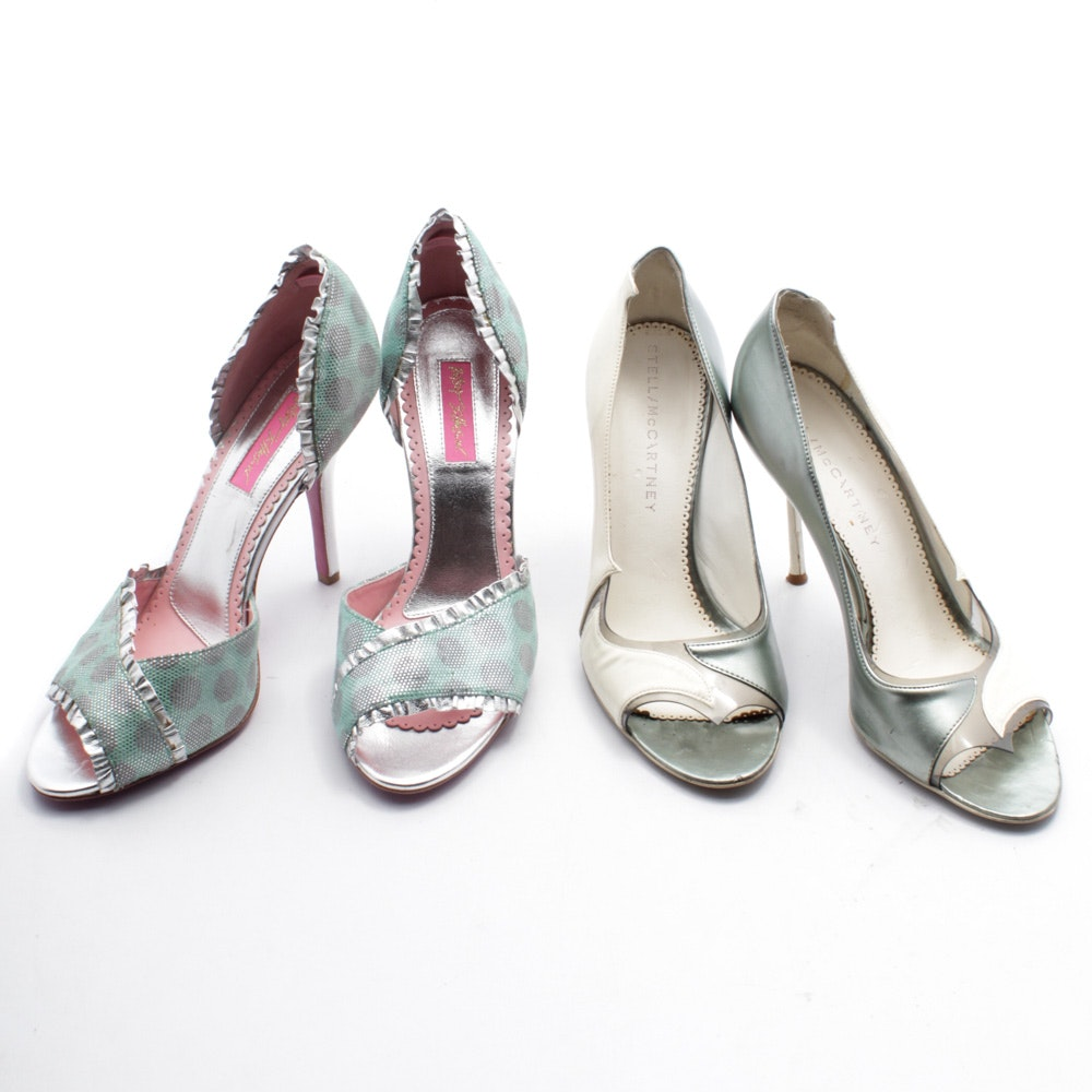 Betsey Johnson and Stella McCartney High-Heeled Open-Toe D'Orsay and Dress Pumps