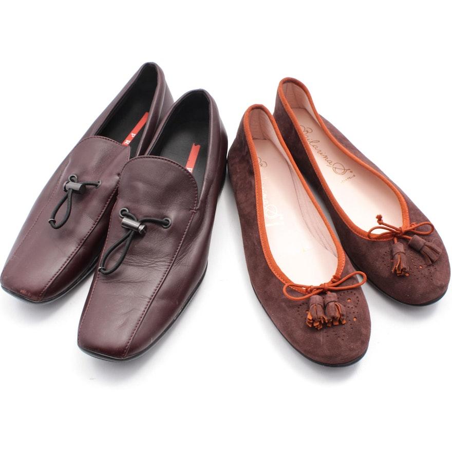 dc2d2147782 Women s Vintage Prada Loafers and Bailarina S Tasseled Ballet Flats   EBTH