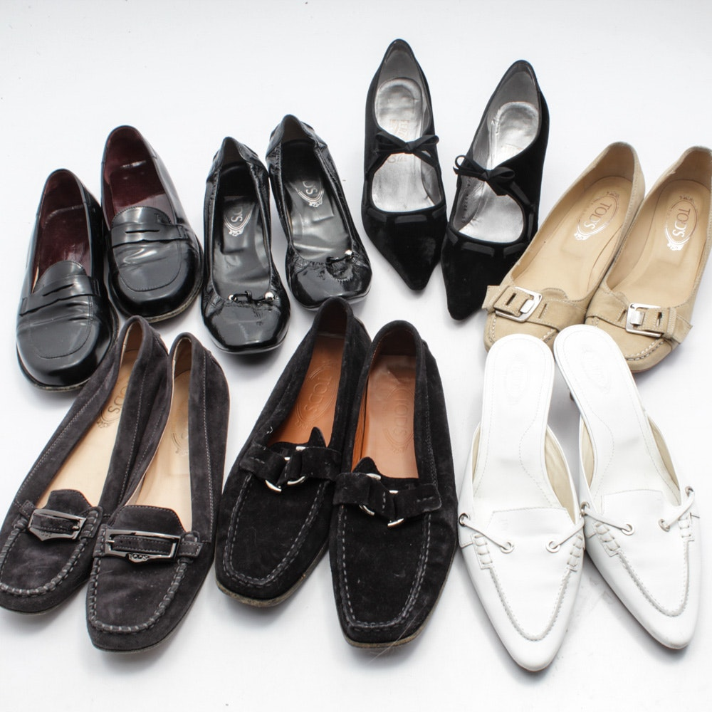 Women's Tod's Loafers, Kitten Heels and Slides with Ferragamo Heels
