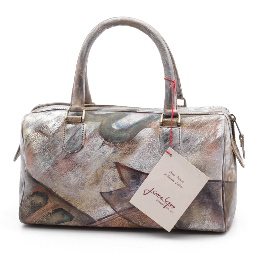 Jane Yoo Hand-Painted on Leather Handbag