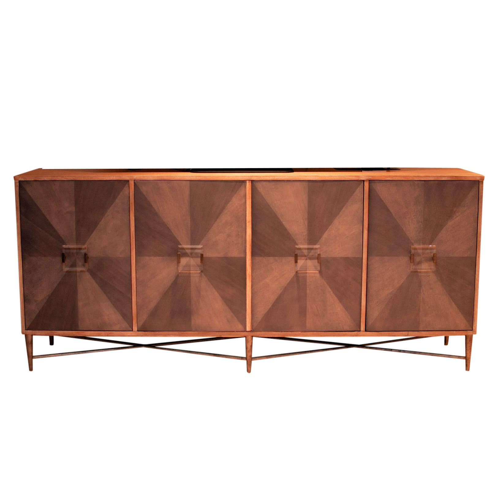 Ash Entertainment Console by Hooker Furniture, Late 20th Century