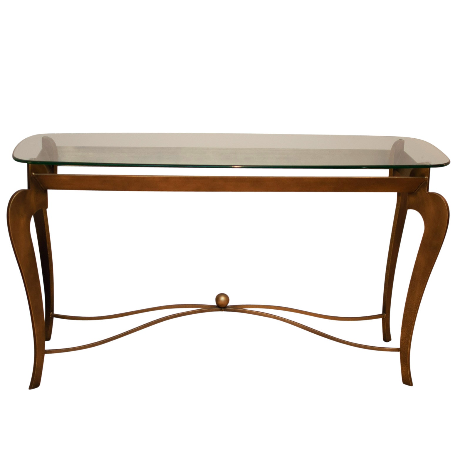 Metal Console Table with Glass Top by Swaim Furniture