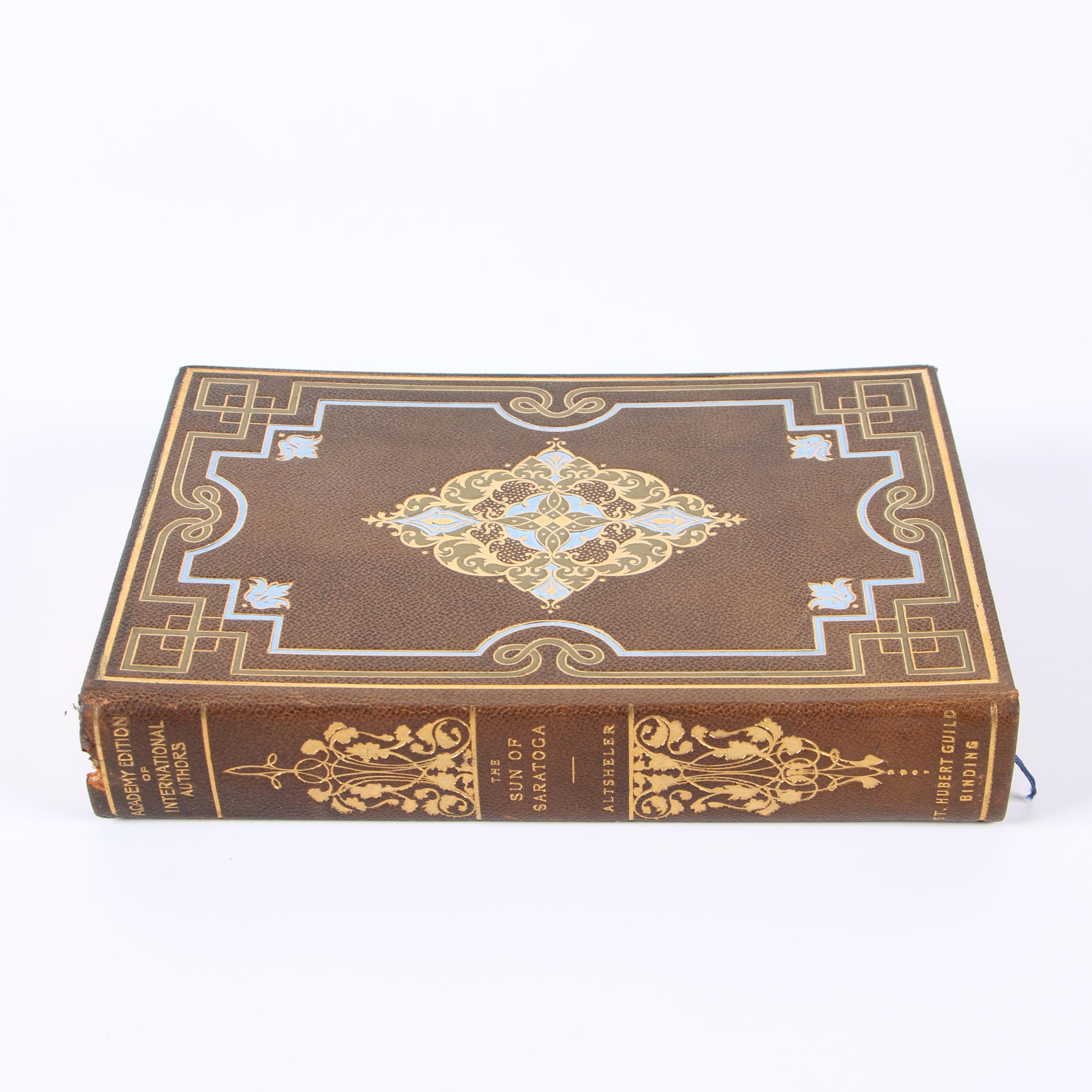 """1897 Numbered Academy Edition """"The Sun of Saratoga"""" by J. A. Altsheler"""
