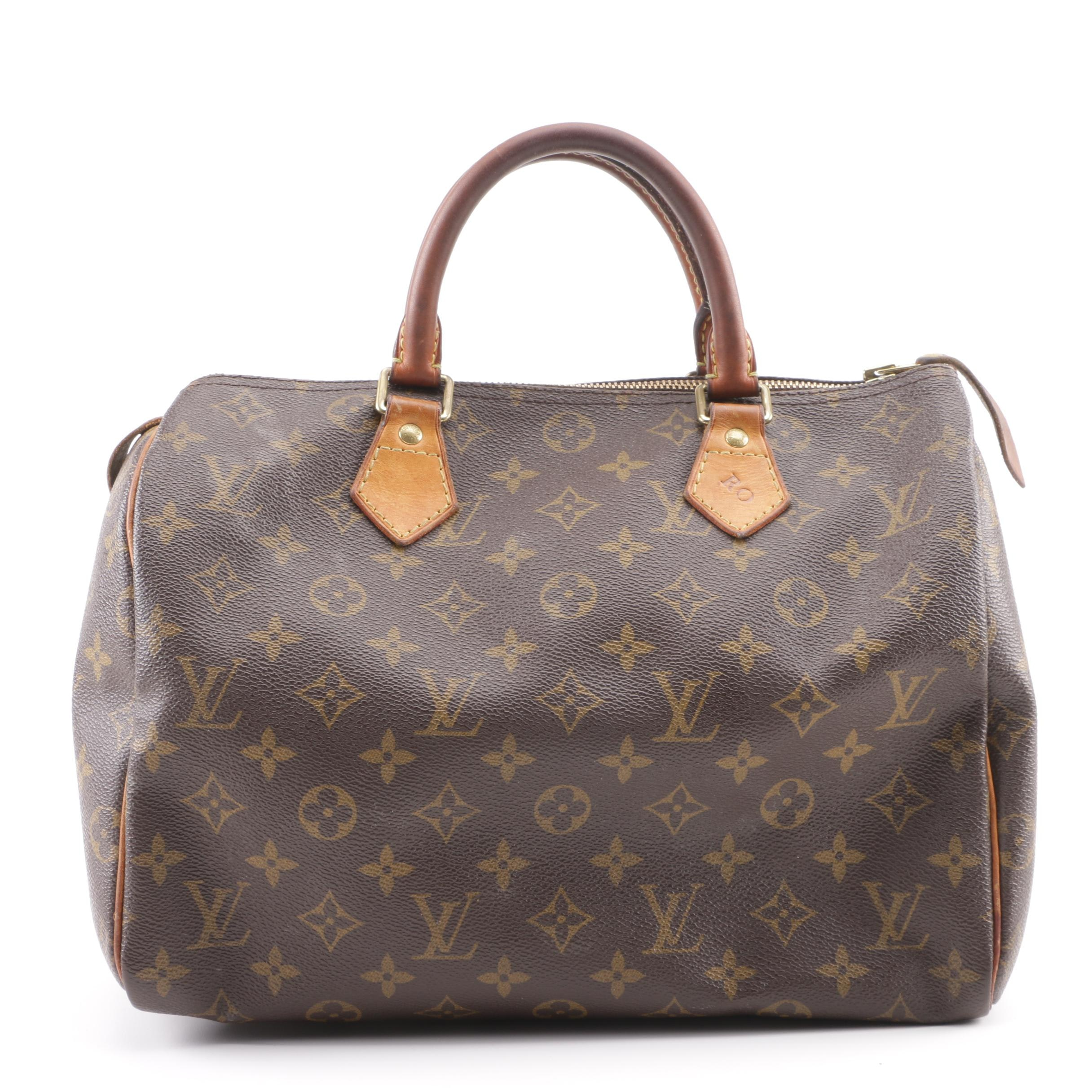 2010 Louis Vuitton Paris Monogram Canvas Speedy Bag
