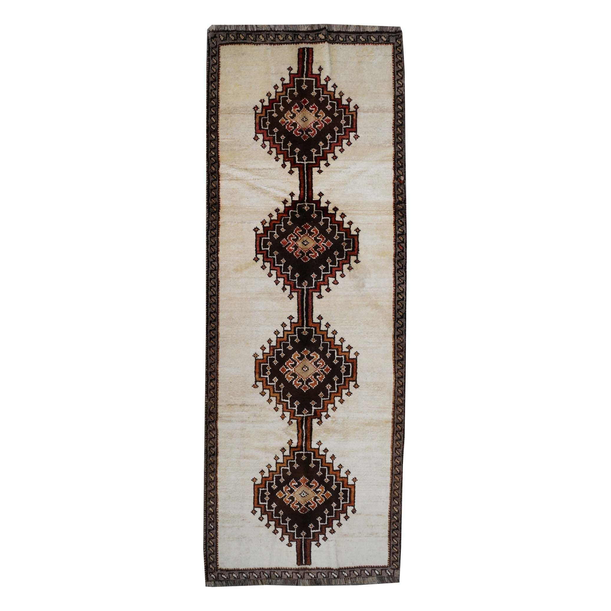 Hand-Knotted Persian Gabbeh Wool Runner