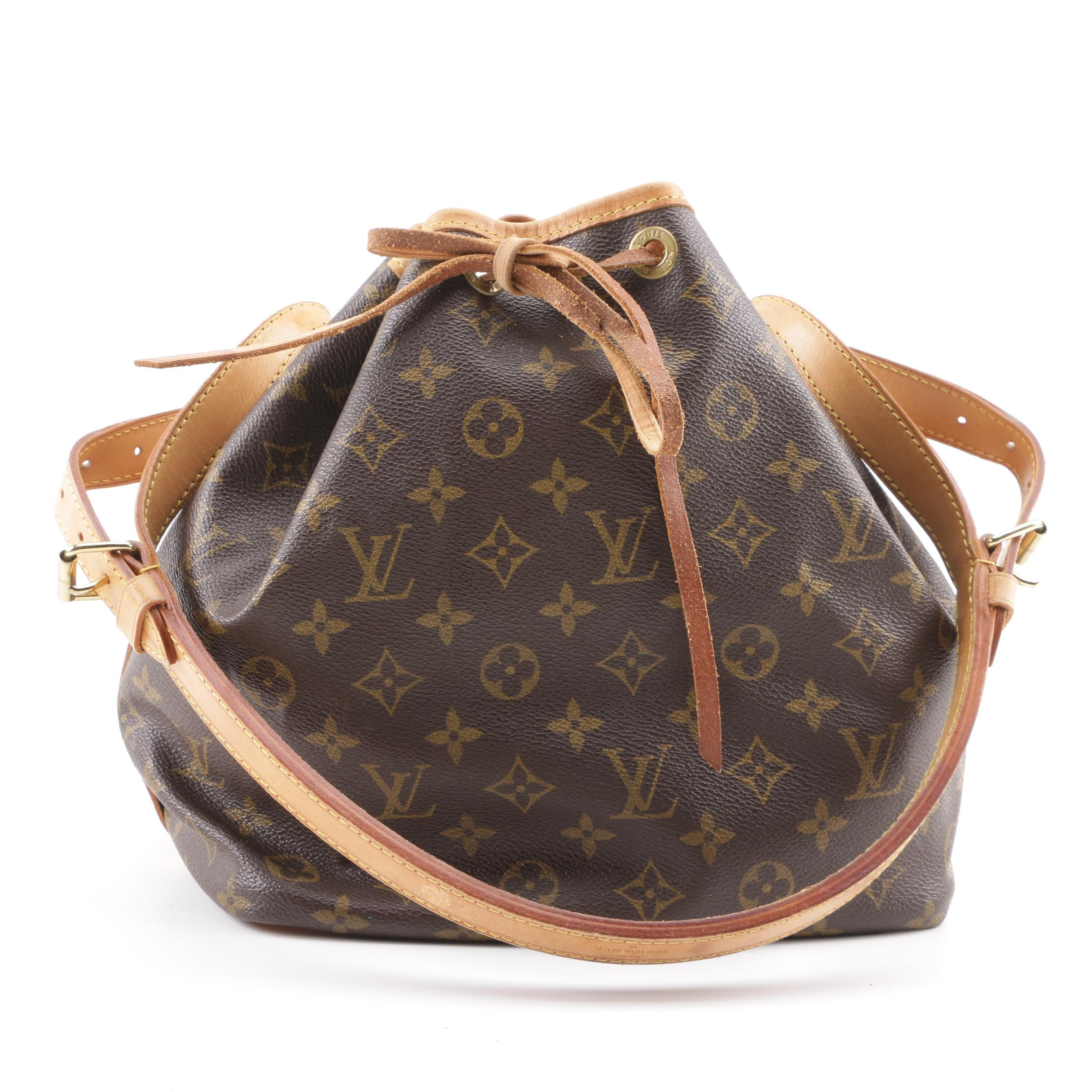 1993 Vintage Louis Vuitton Paris Monogram Canvas Noe Bucket Bag