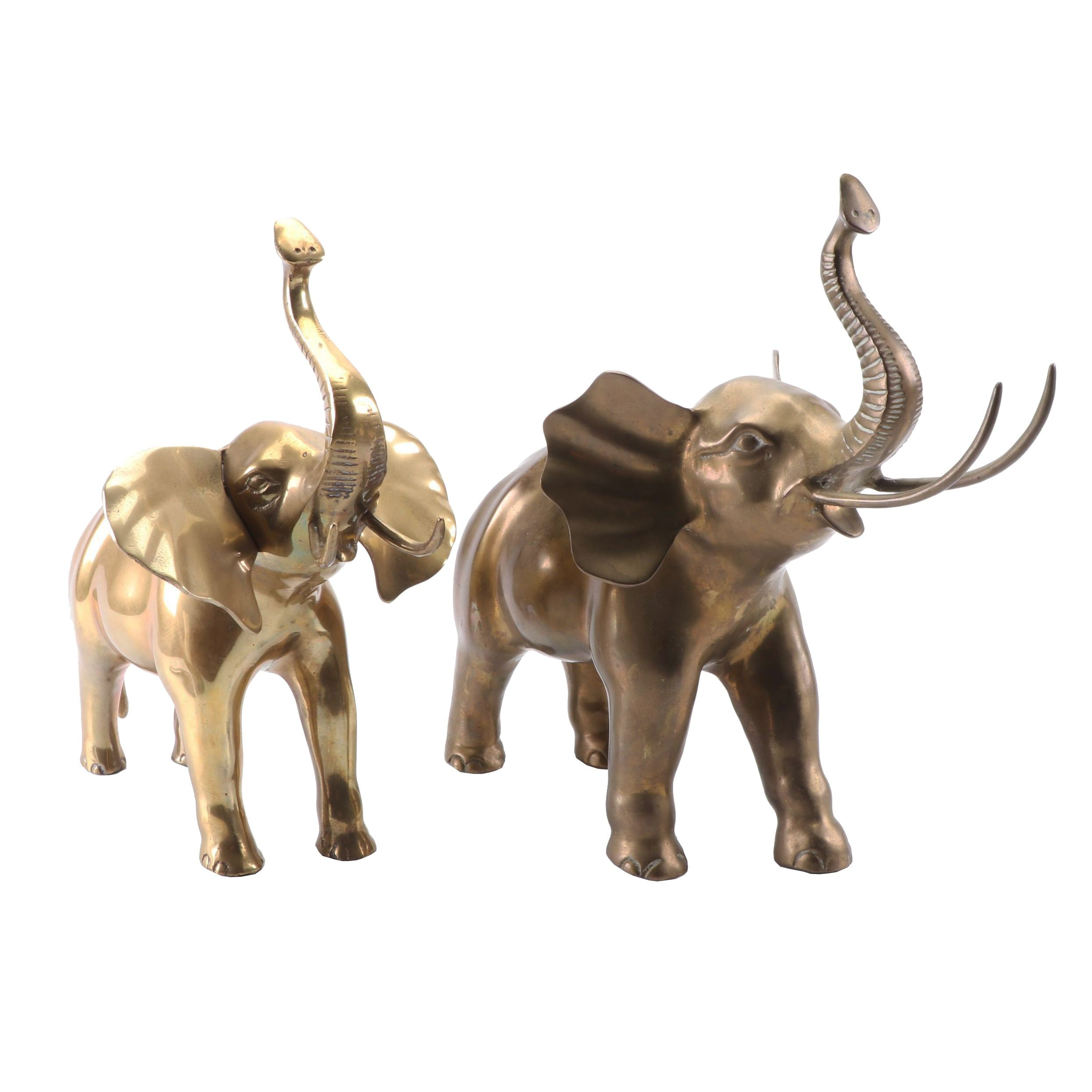 Brass and Bronze Elephant Figures