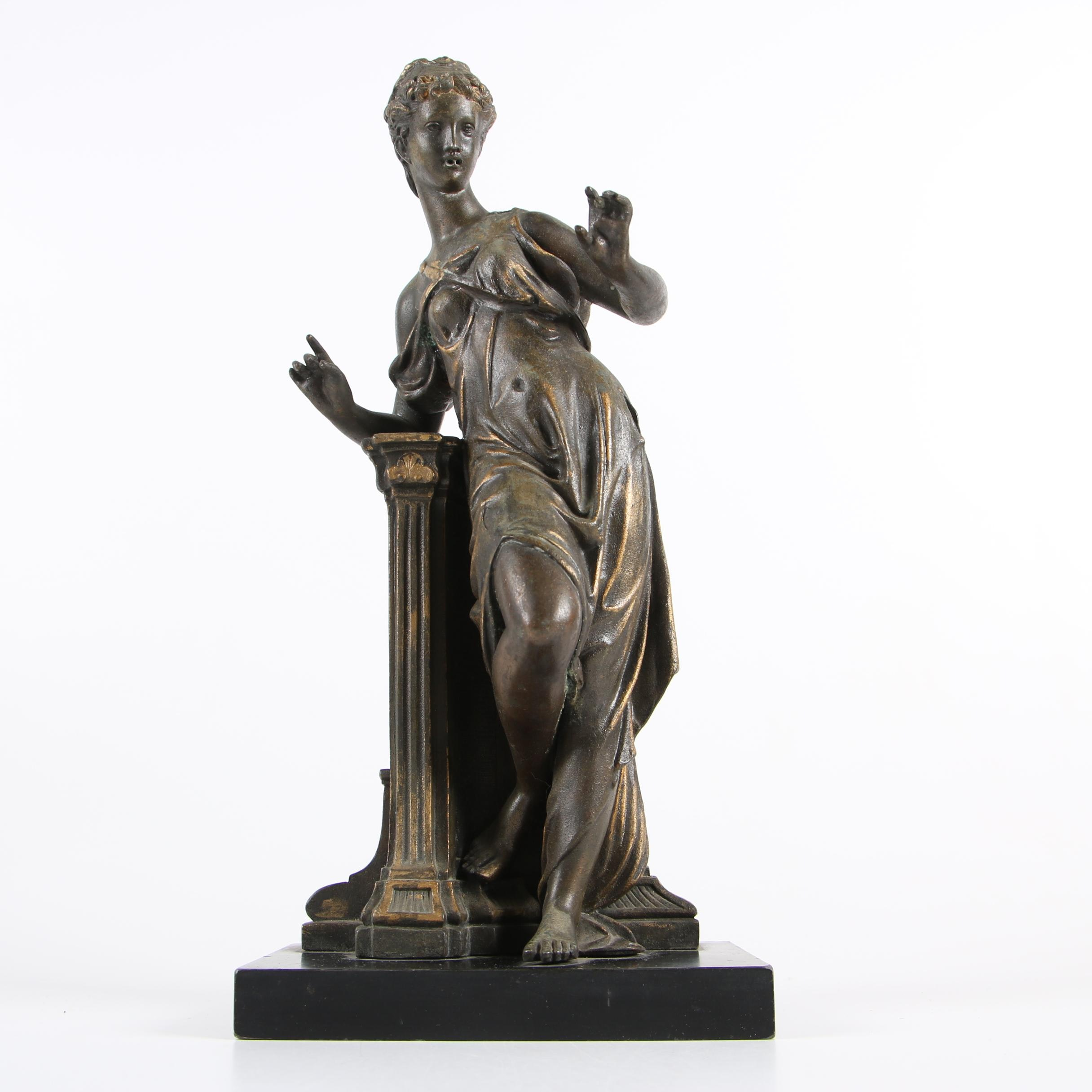 Metal Sculpture of a Neoclassical Figure