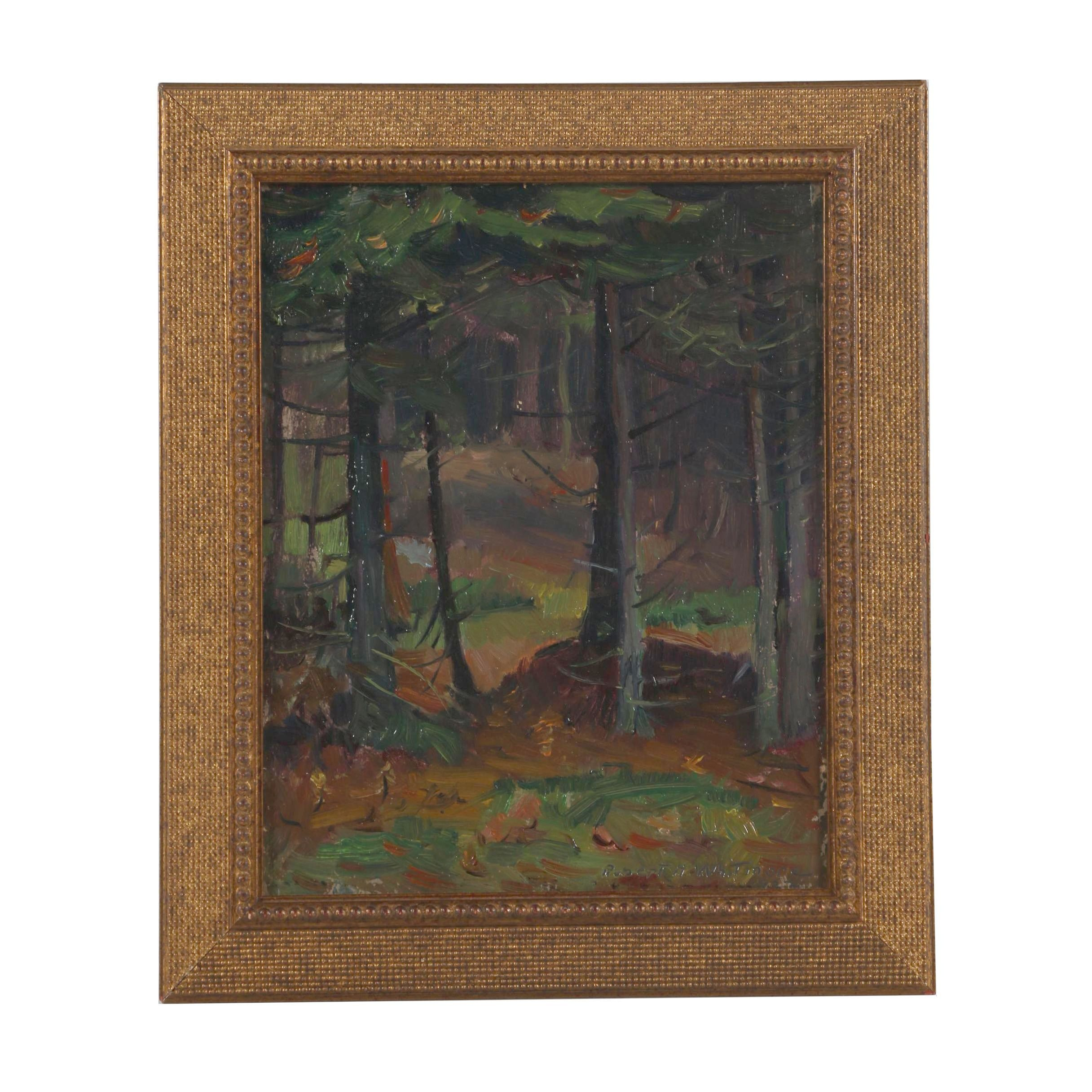 """Robert Whitmore Oil Painting """"Through the Woods"""""""