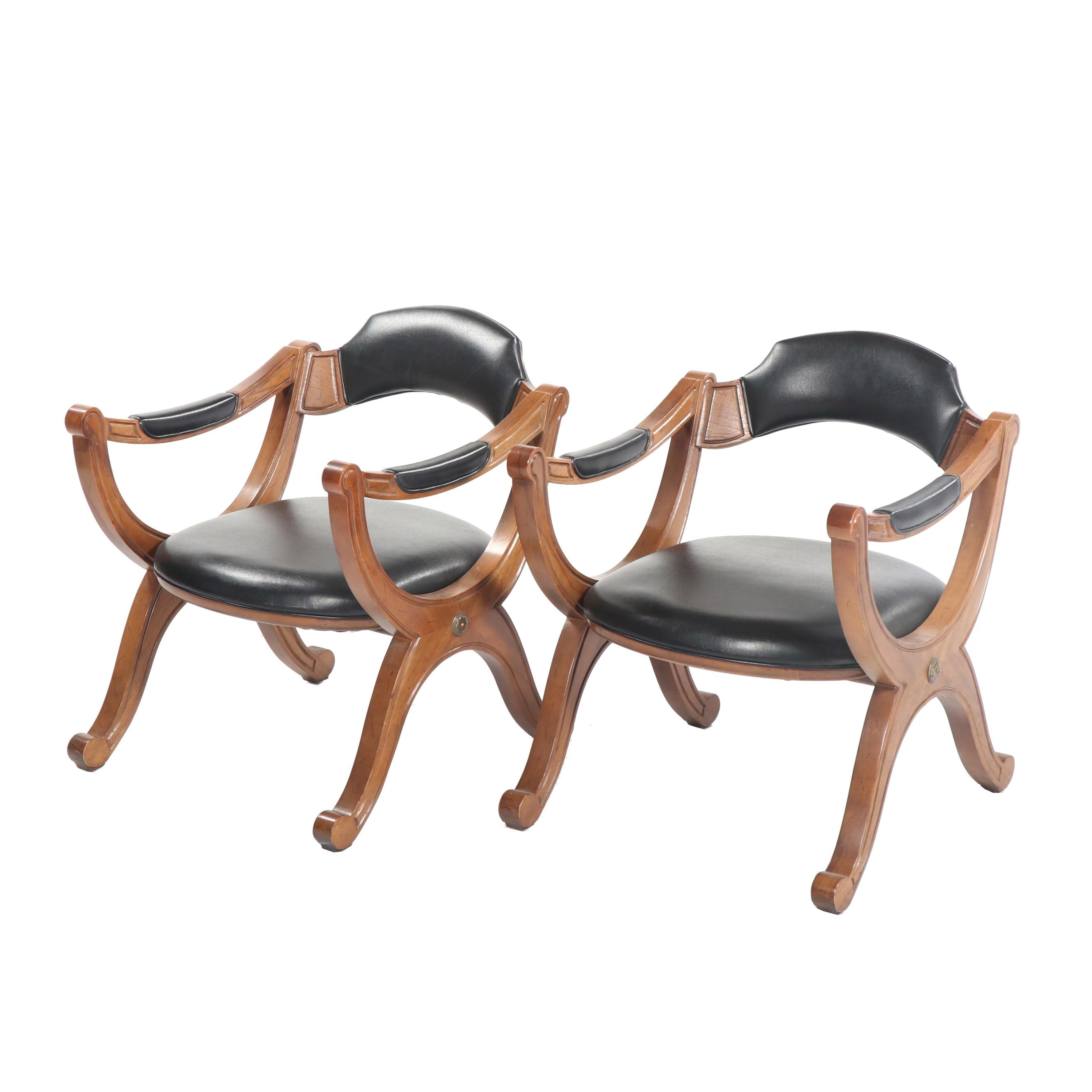 """Esperanto"" Walnut Armchairs by Drexel, Mid-20th Century"