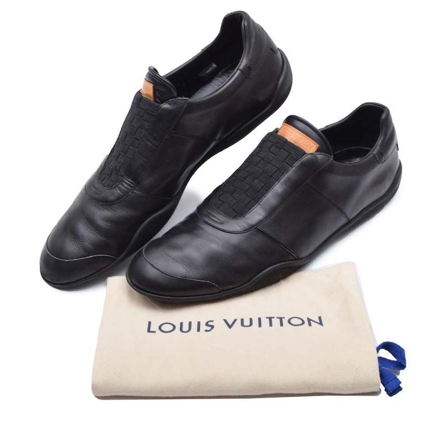 2b1d20fd3e91 Men s Louis Vuitton Paris Black Leather Sneakers   EBTH